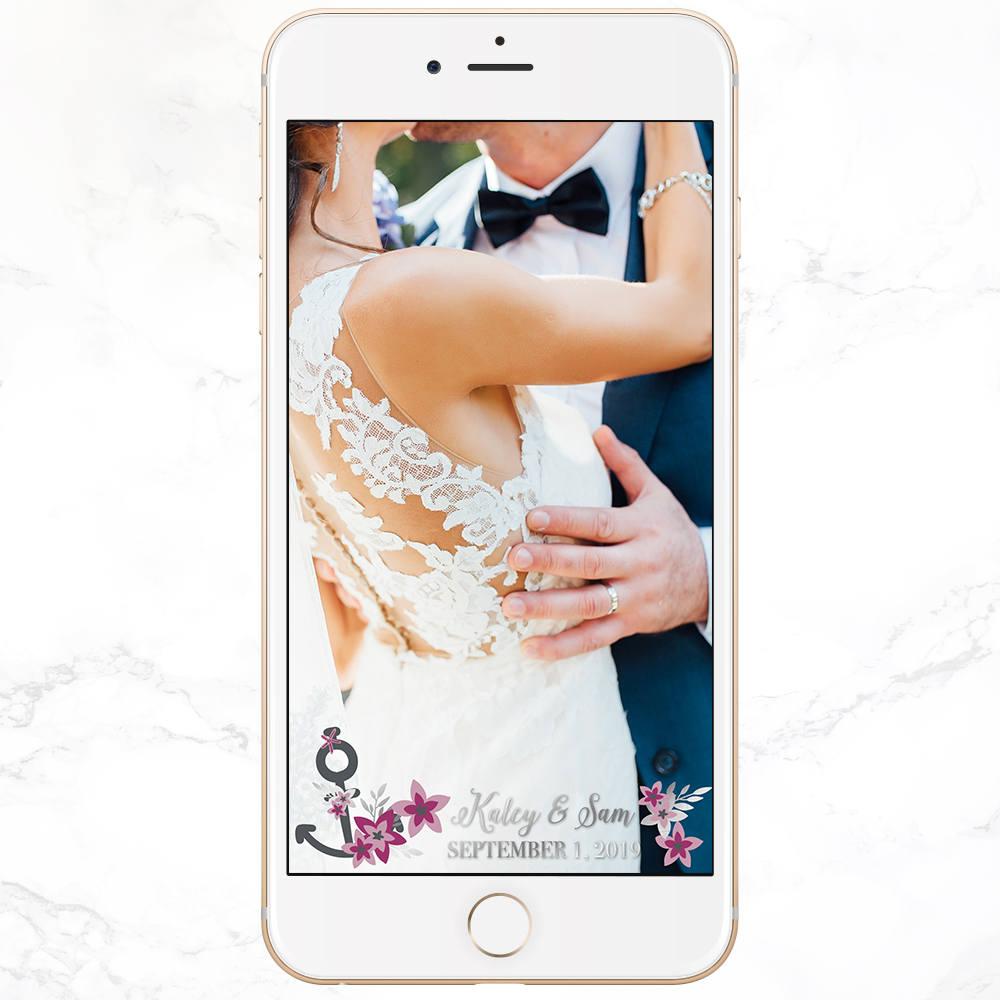 Custom Wedding Snapchat Filter - Celebration Events Co -- Wedding Blog - The Overwhelmed Bride