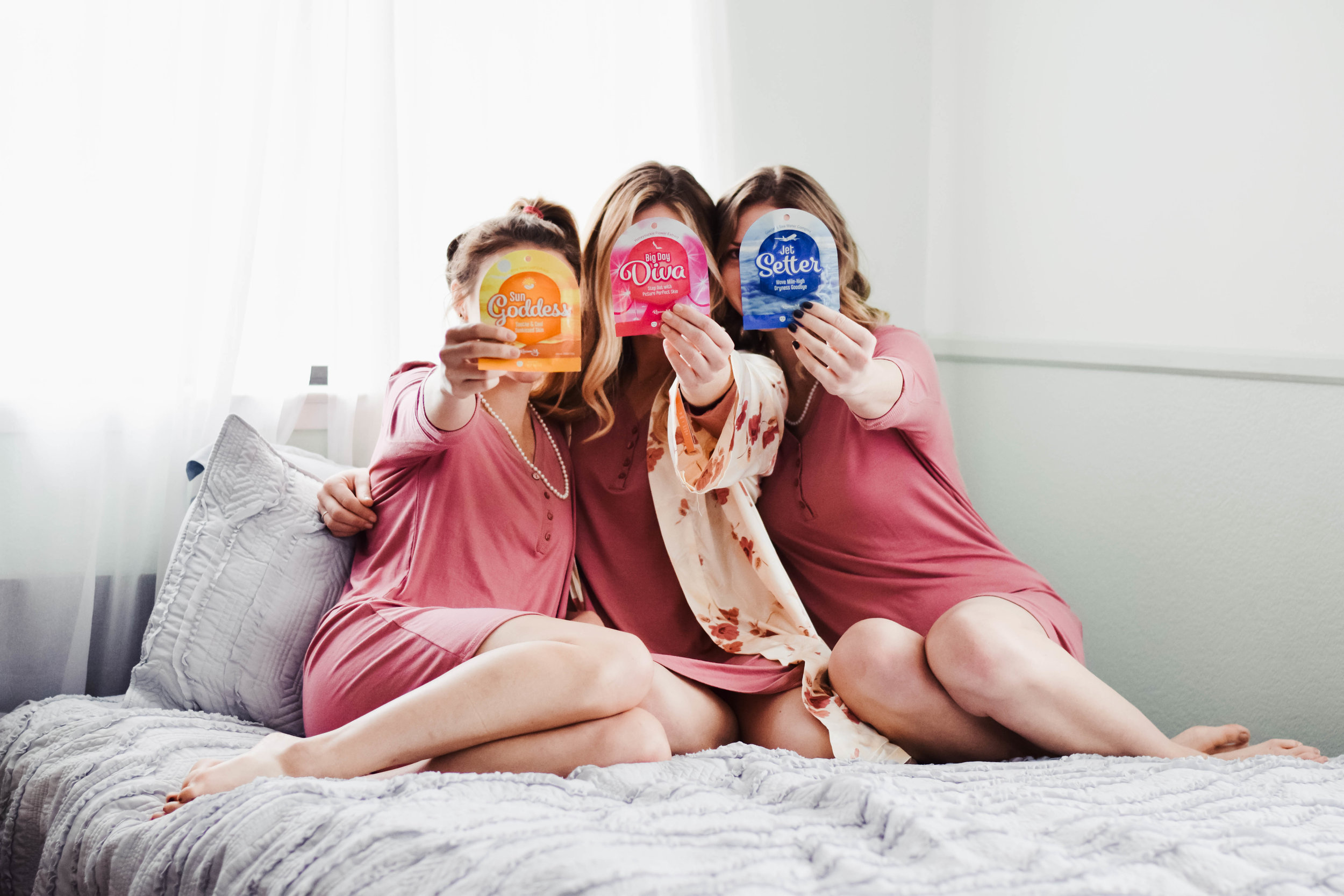 Bachelorette Party Ideas + Bridesmaid Gifts | Reason Y Bridal Face Masks -- Wedding Blog - The Overwhelmed Bride