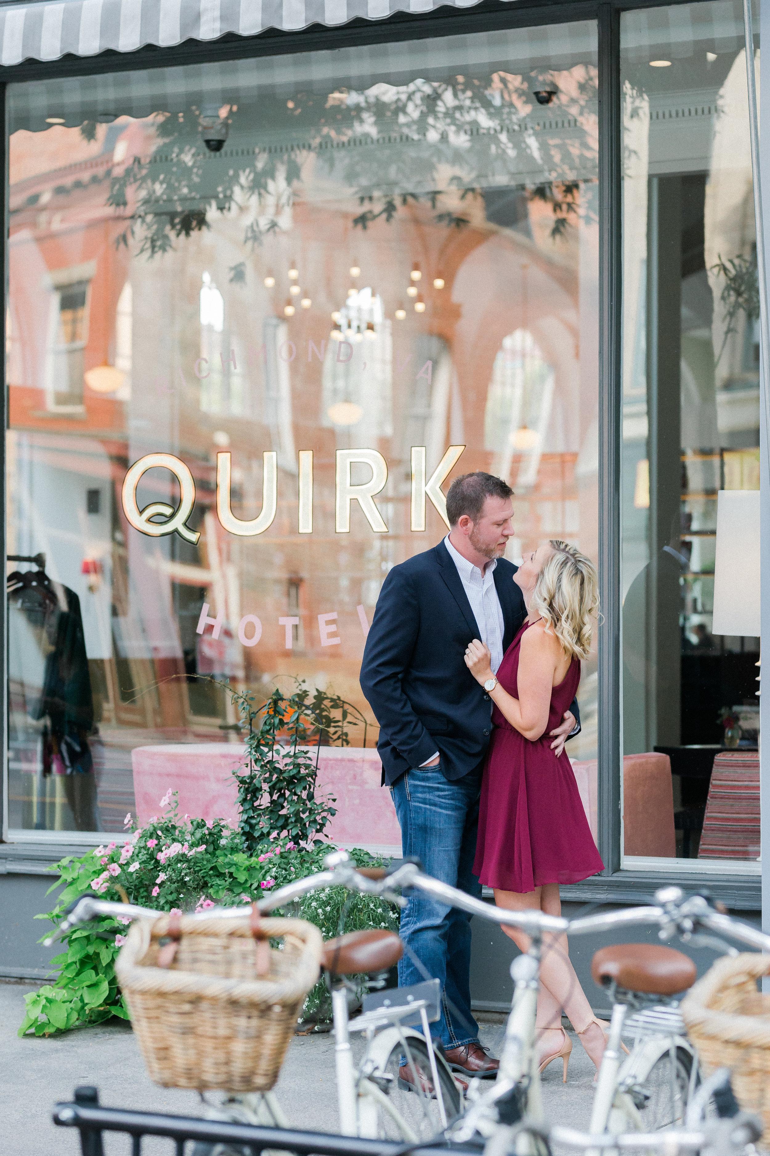 Quirk Hotel + Belle Island Engagement Photos - Luke and Ashley Photography - Richmond Virginia Wedding Photographer -- Wedding Blog - The Overwhelmed Bride