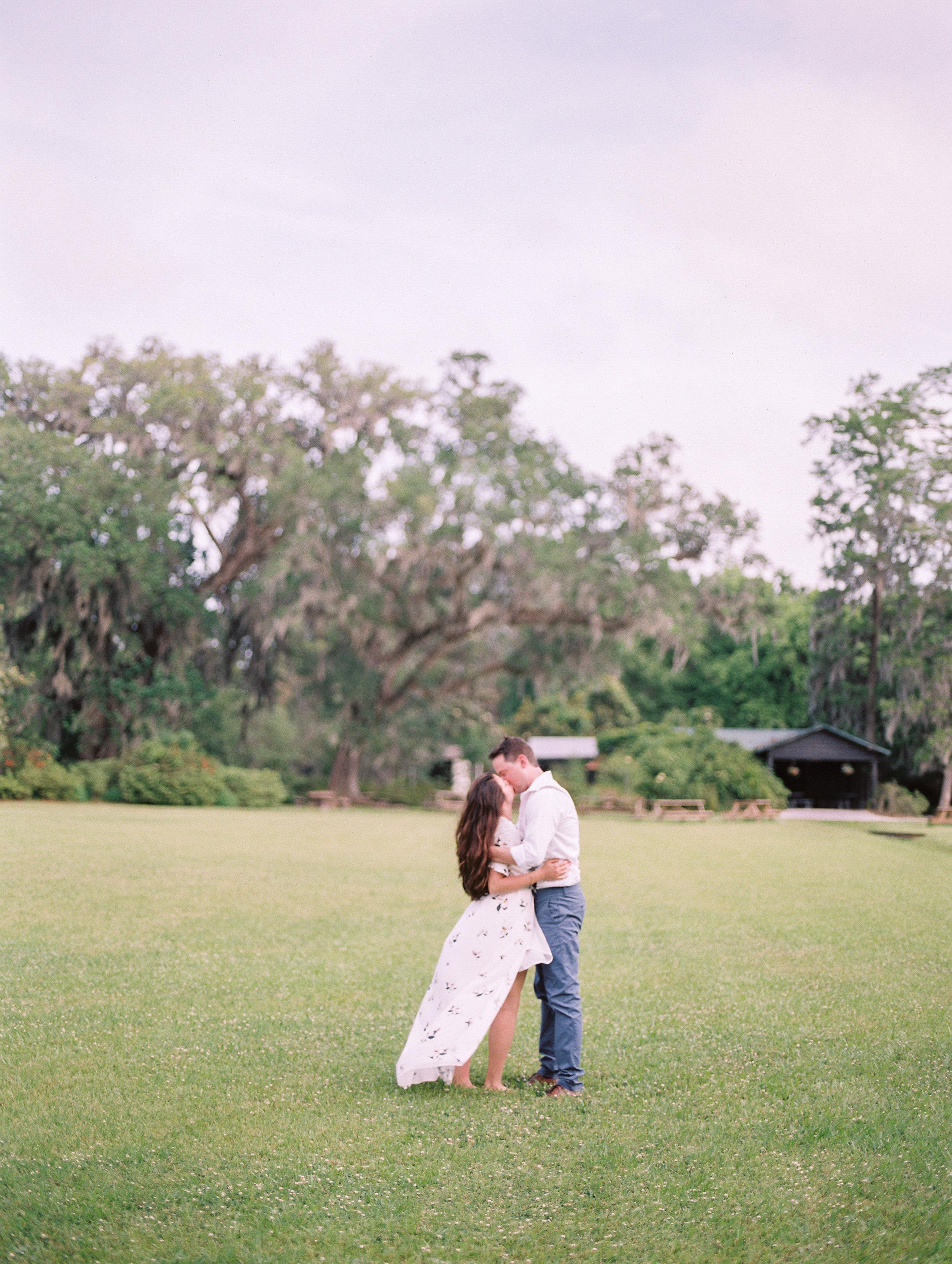 Charleston, South Carolina Wedding Venue - Magnolia Plantation Engagement Photos -- Wedding Blog - The Overwhelmed Bride