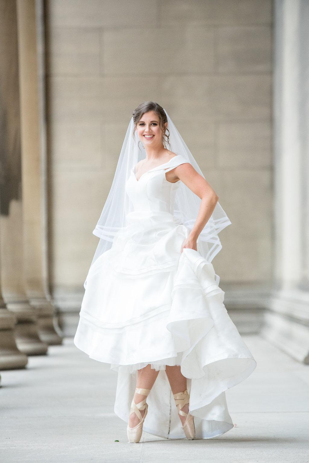 Ballerina Bride - Duquesne University Ballroom Wedding - Classic Wedding -- Wedding Blog - The Overwhelmed Bride