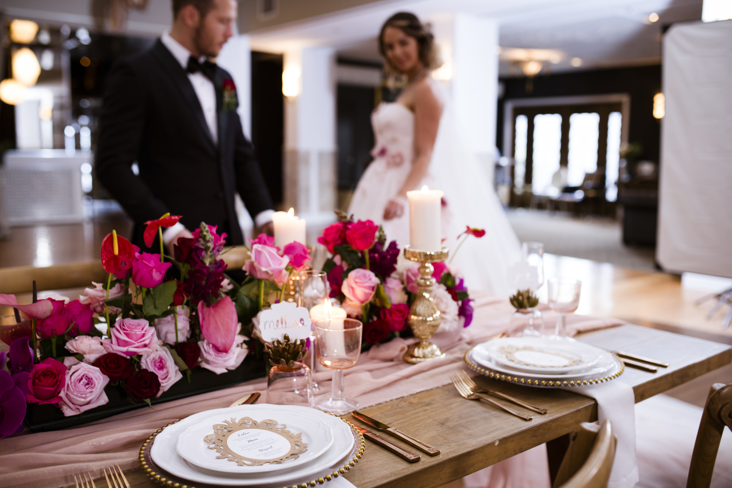 A Queensland Mirra Wedding - Moody Romantic Pink and Red Wedding -- Wedding Blog - The Overwhelmed Bride