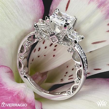 Unique 3 Stone Princess Cut Engagement Ring - White Flash -- Wedding Blog - The Overwhelmed Bride