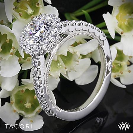 Unique Round Halo Engagement Ring - White Flash -- Wedding Blog - The Overwhelmed Bride