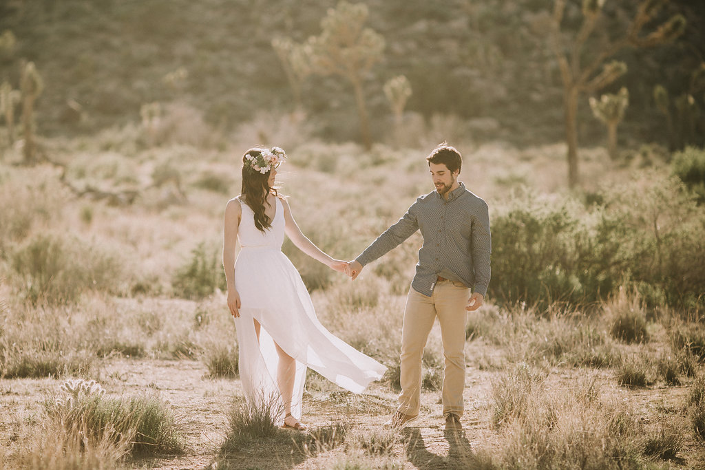 A Joshua Tree Desert Engagement Photos -- Southern California Wedding Photographers