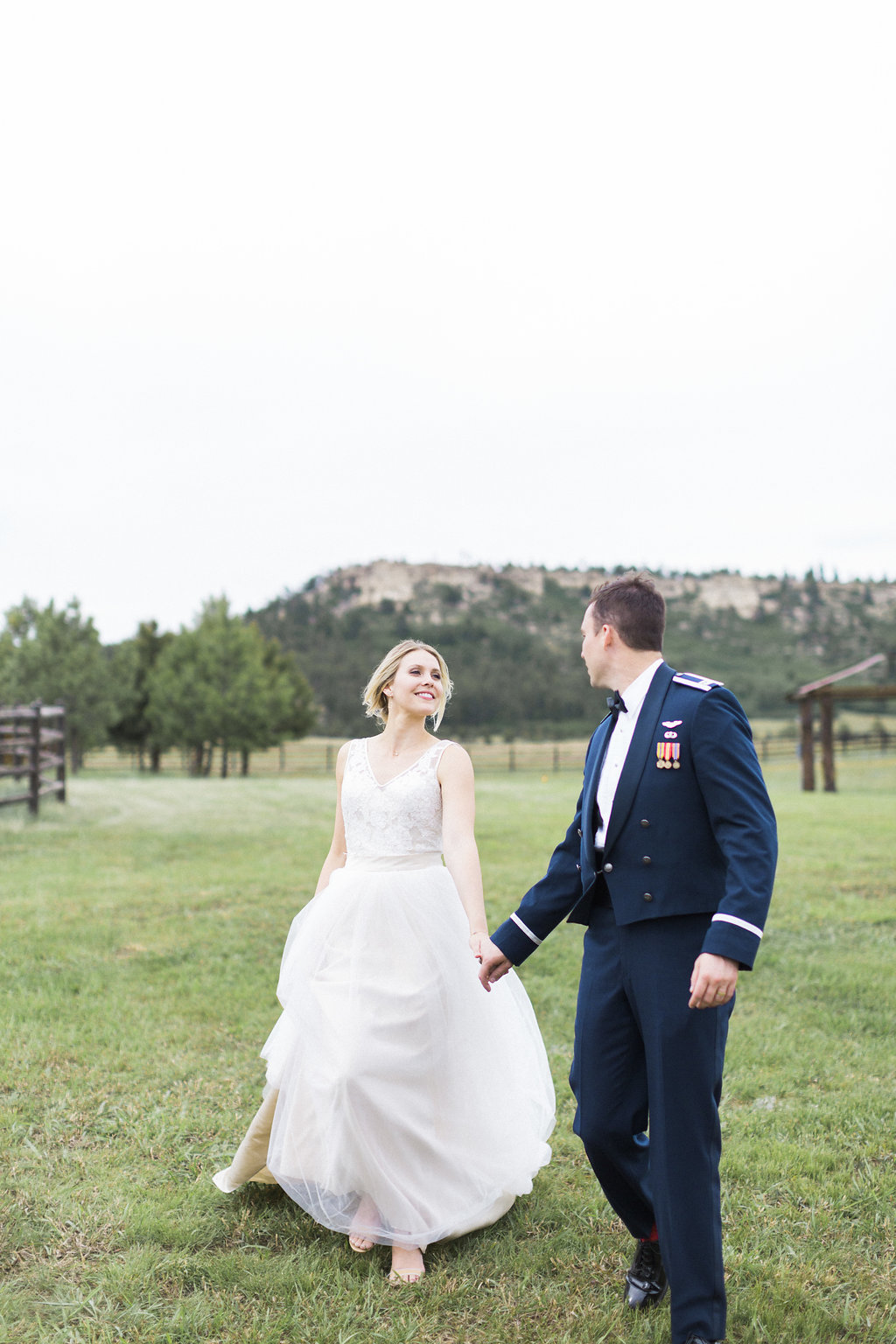 Neutral Wedding Colors - Air Force Chapel Wedding - Spruce Mountain Ranch Wedding