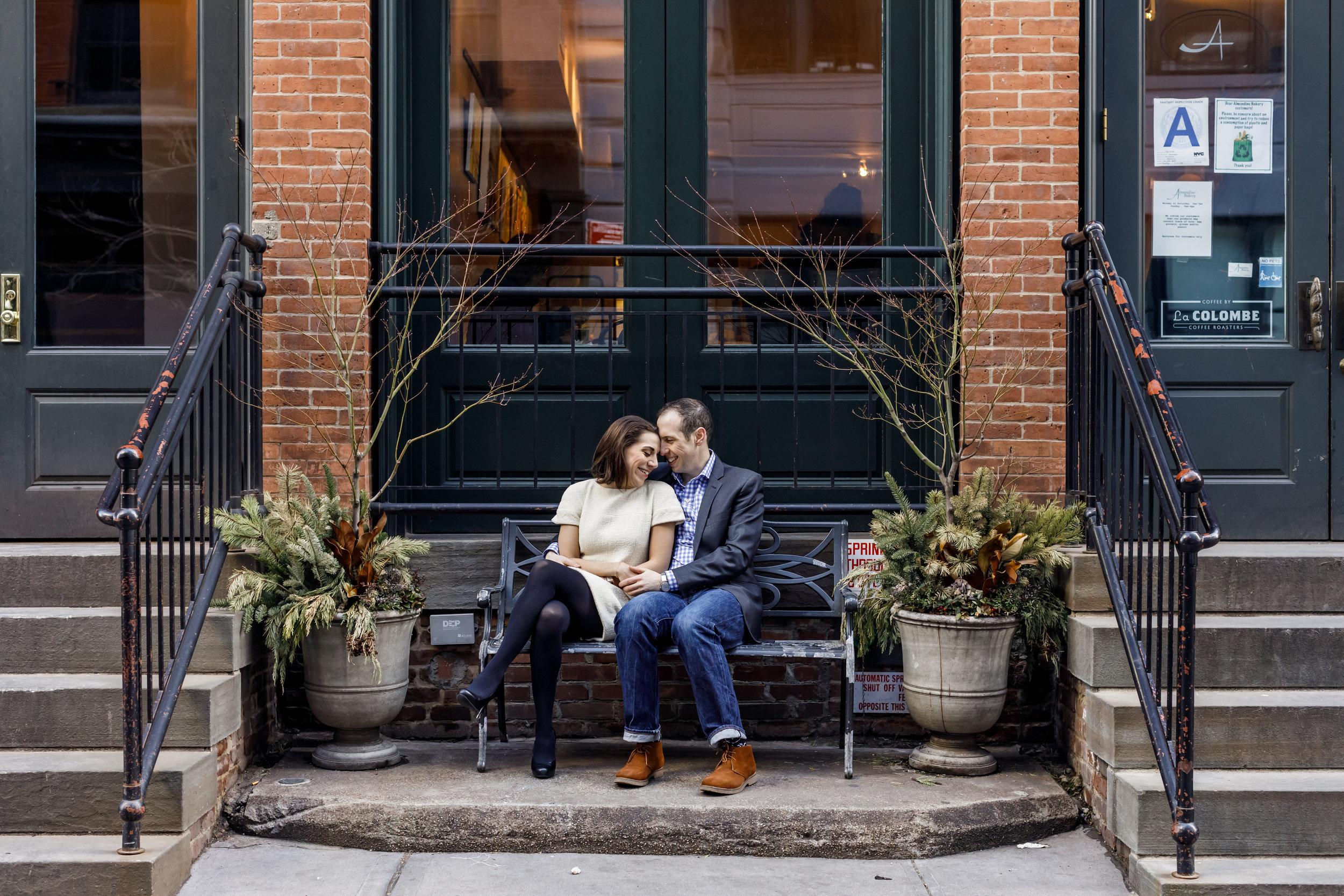 Dumbo Manhattan Engagement Photos - The Overwhelmed Bride Wedding Blog