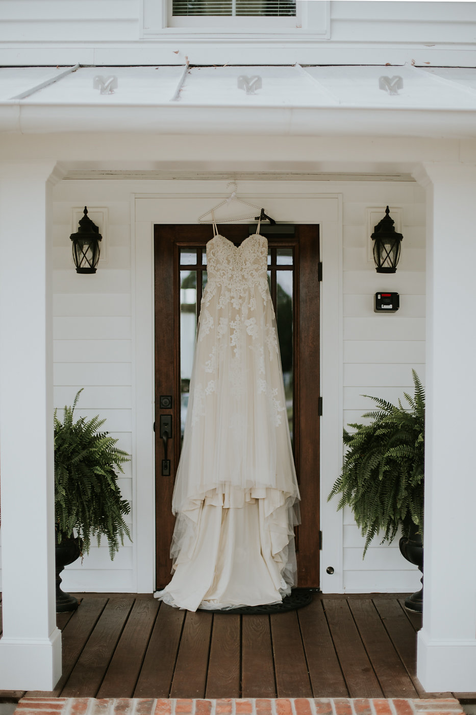 Beaded Wedding Dress - North Carolina Wedding Venue - Triple J Manor House Wedding