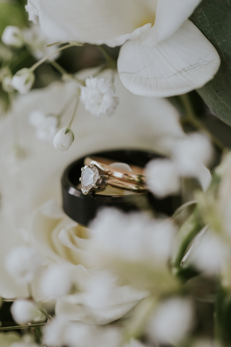 Gold Solitaire Wedding Ring - North Carolina Wedding Venue - Triple J Manor House Wedding