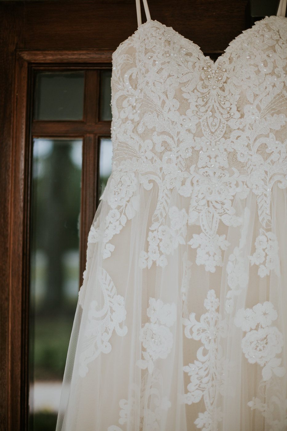 Beaded Embroidered Wedding Dress - North Carolina Wedding Venue - Triple J Manor House Wedding