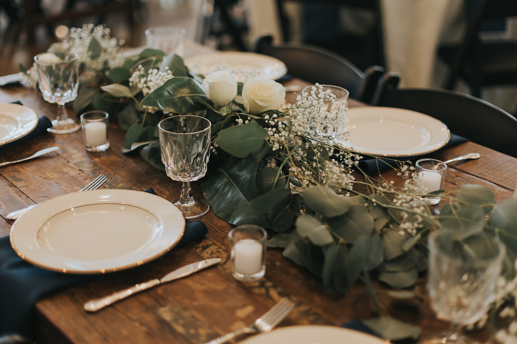 Rustic Wedding Decor - North Carolina Wedding Venue - Triple J Manor House Wedding