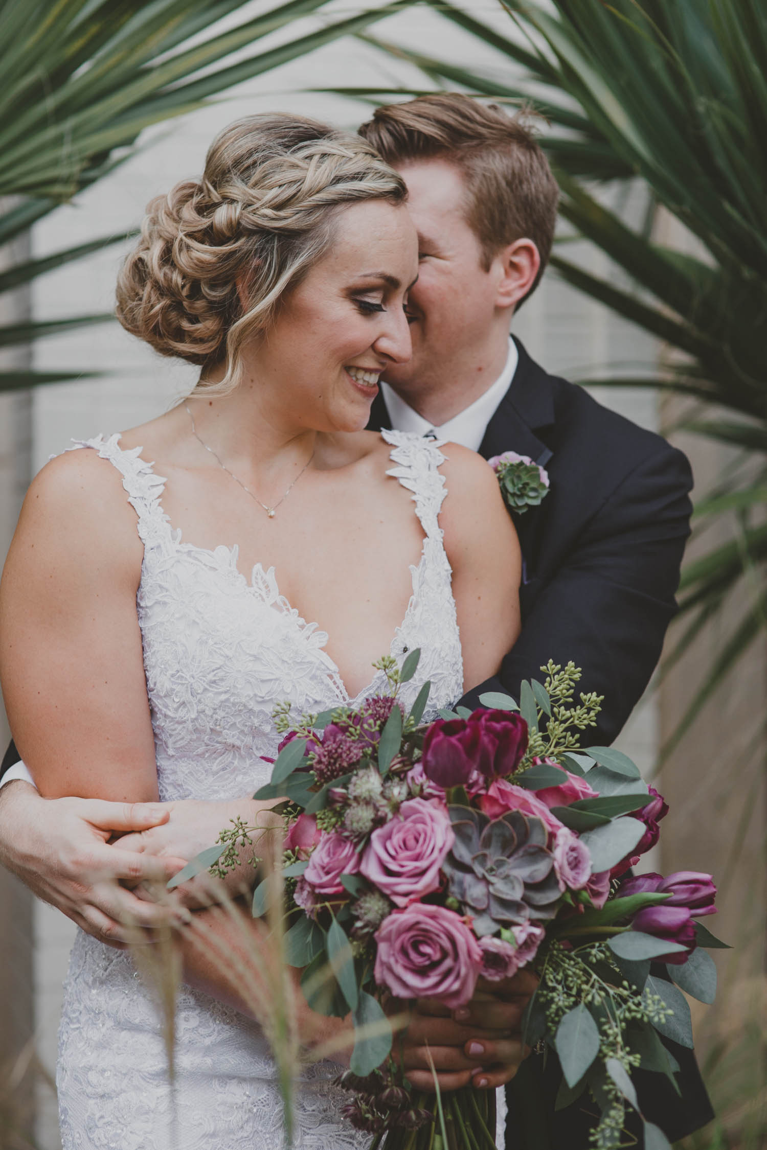 Gorgeous Bridal Up Do - Downtown Dallas Wedding Venue - El Fenix Wedding