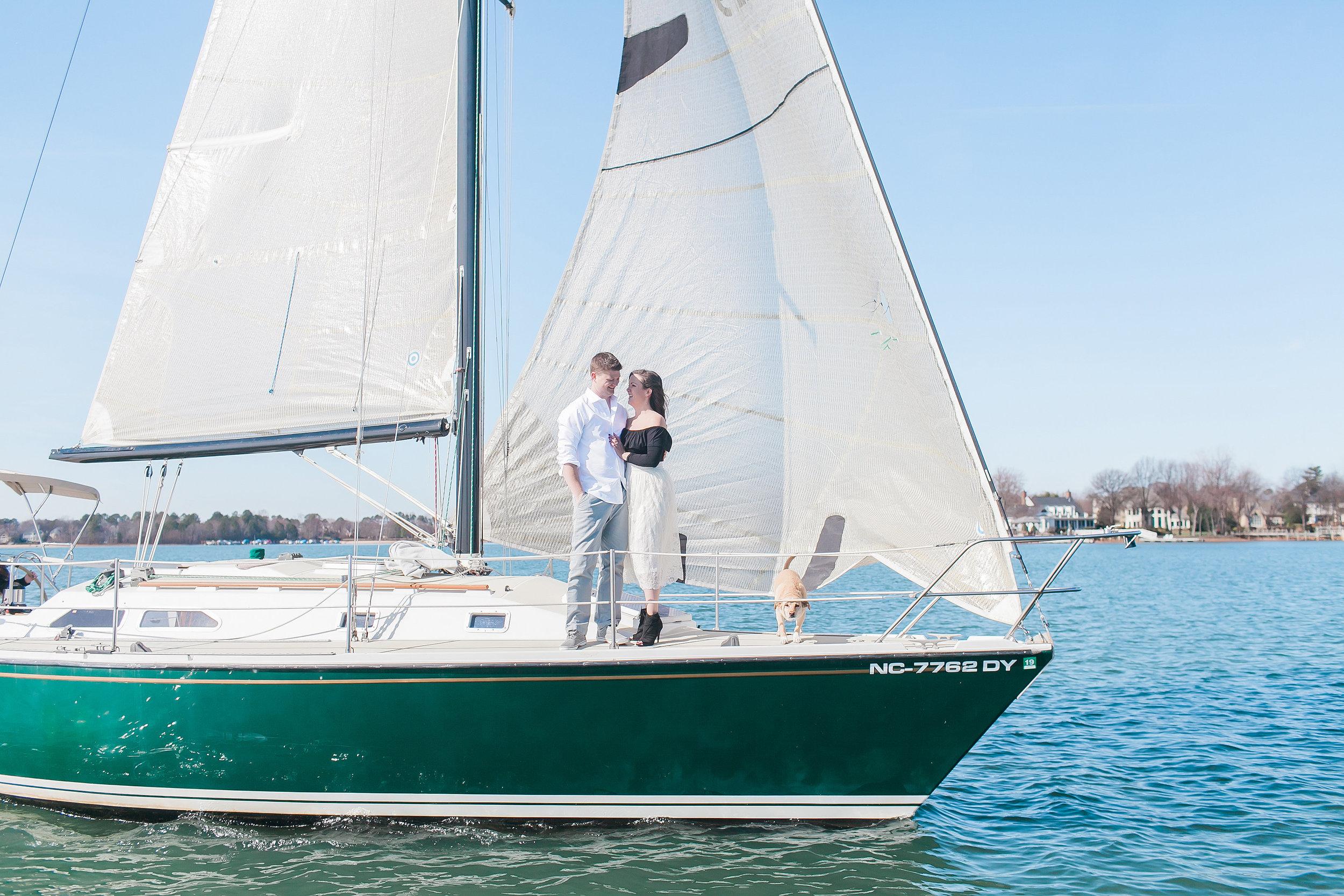 Sailboat Engagement Photos - Charlotte, North Carolina Wedding Photography