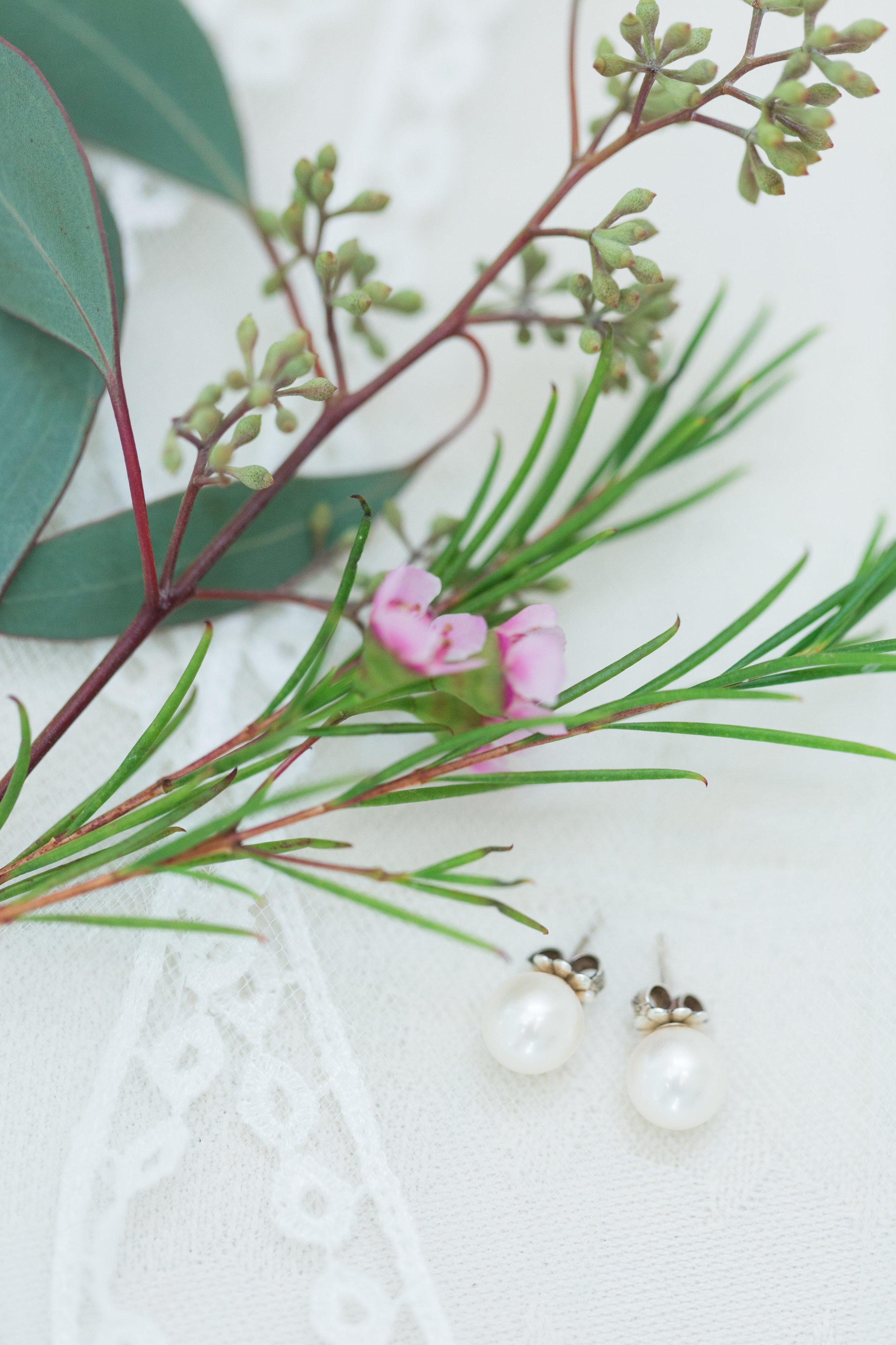 Pearl Bridal Earrings - Heritage House - Georgetown, Texas Wedding Venue