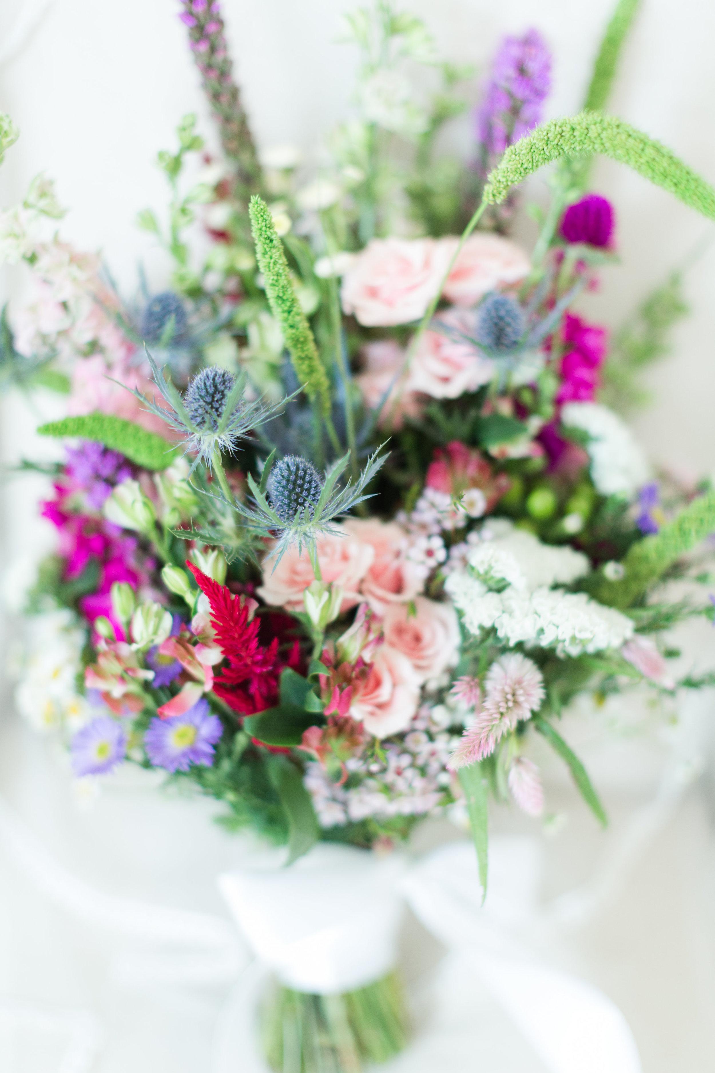 Wildflower Bridal Bouquet - Heritage House - Georgetown, Texas Wedding Venue