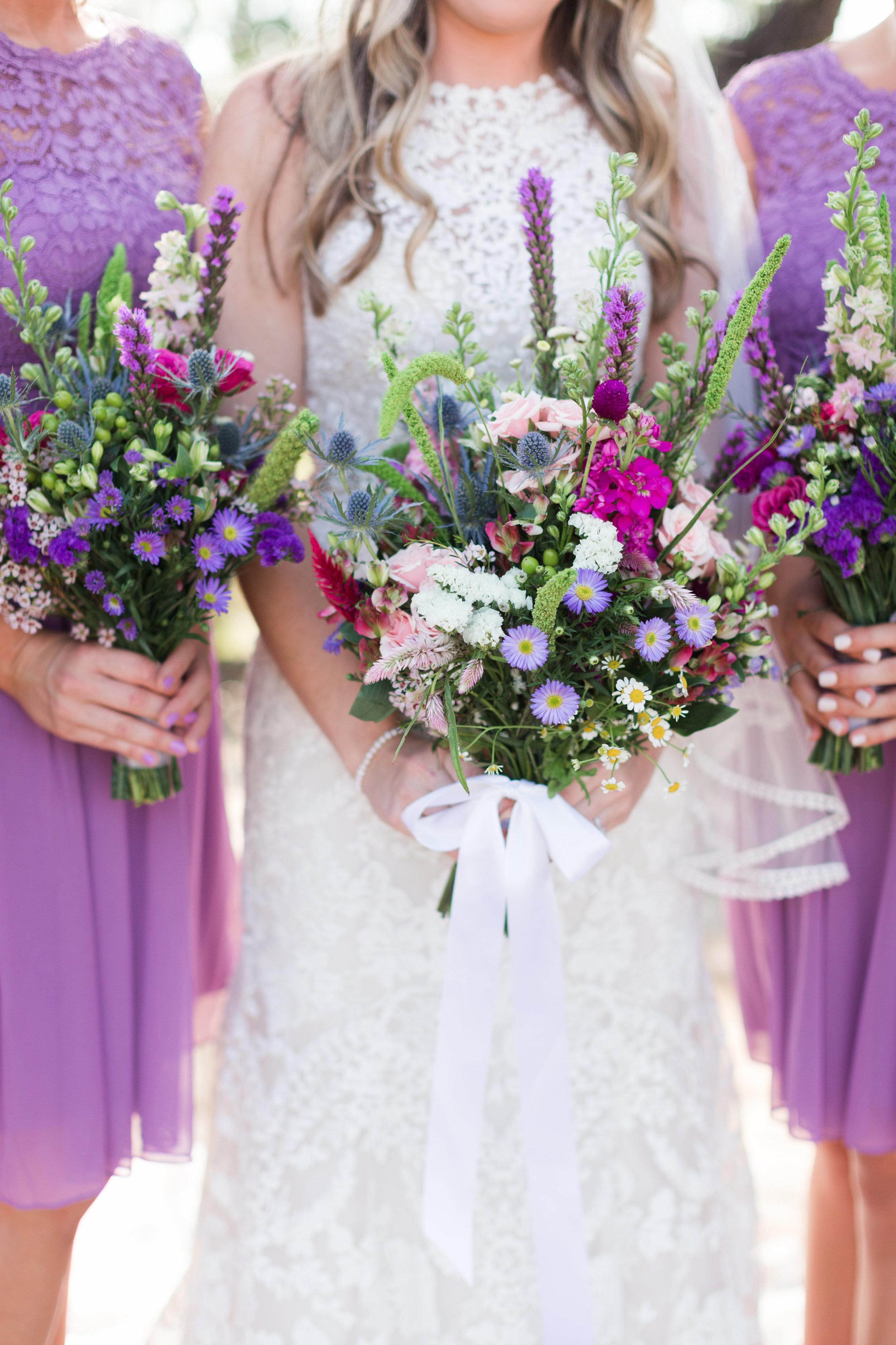 Wildflower Bridal Bouquet - Heritage House Wedding - Georgetown, Texas Wedding Venue