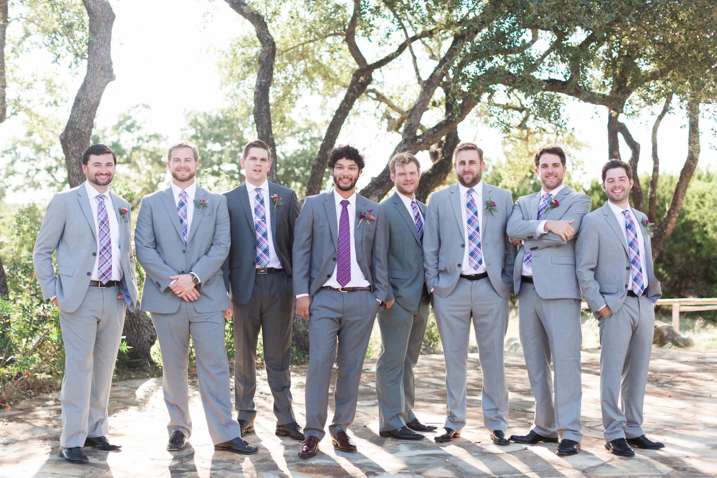 Purple Groom Tie - Heritage House Wedding - Georgetown, Texas Wedding Venue