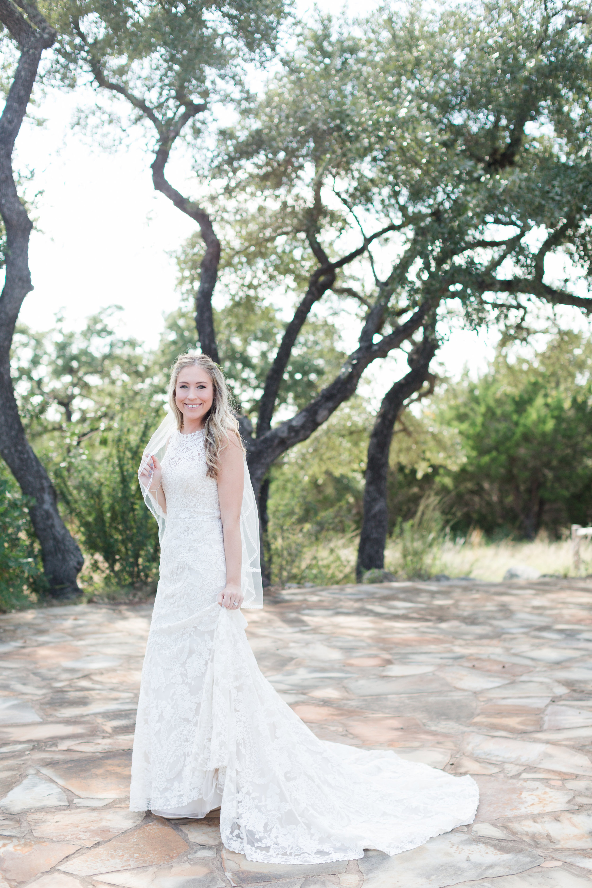 Lace Wedding Dresses - Heritage House Wedding - Georgetown, Texas Wedding Venue