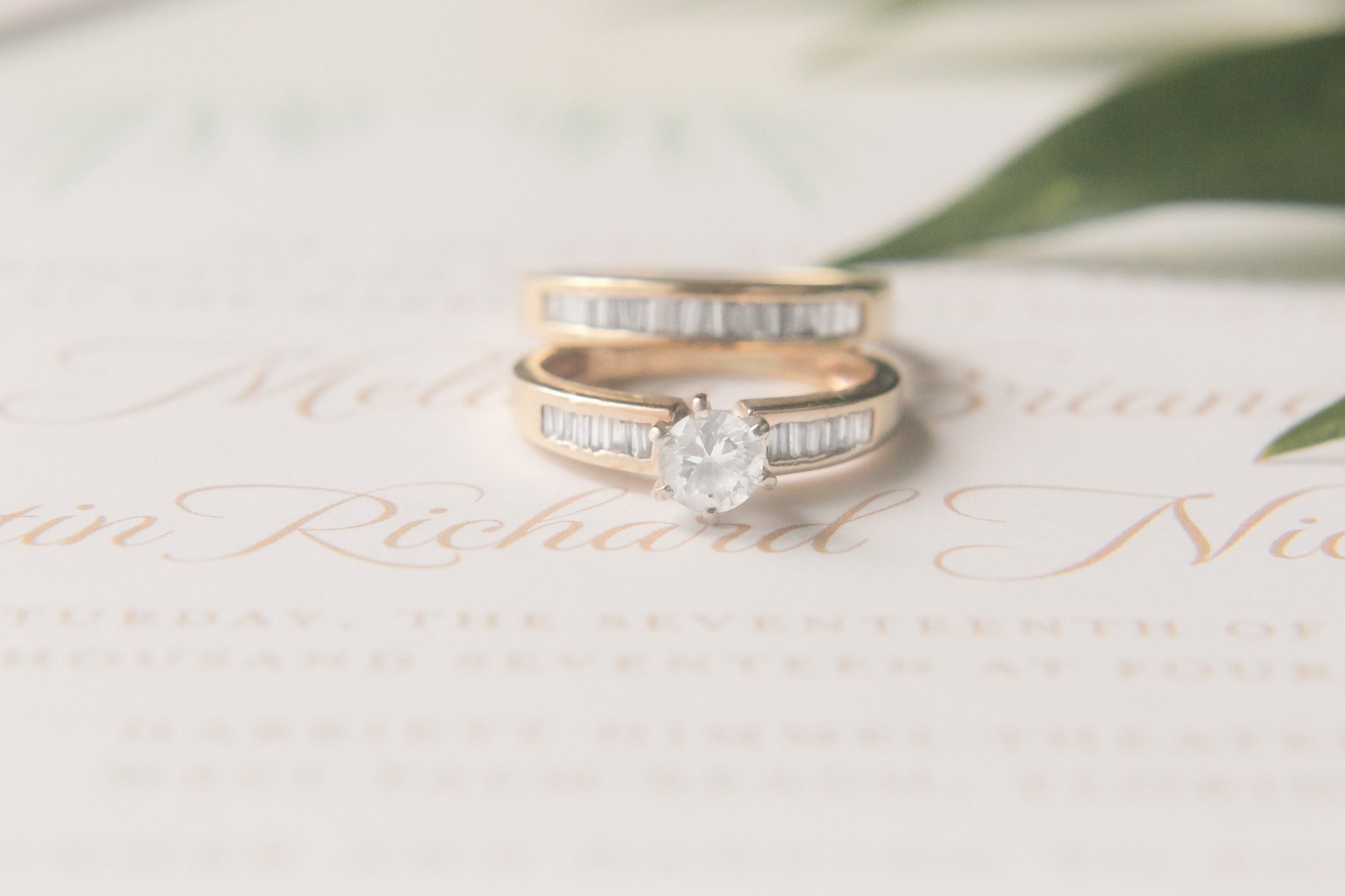 Gold Engagement Rings - Industrial Wedding Decor Ideas