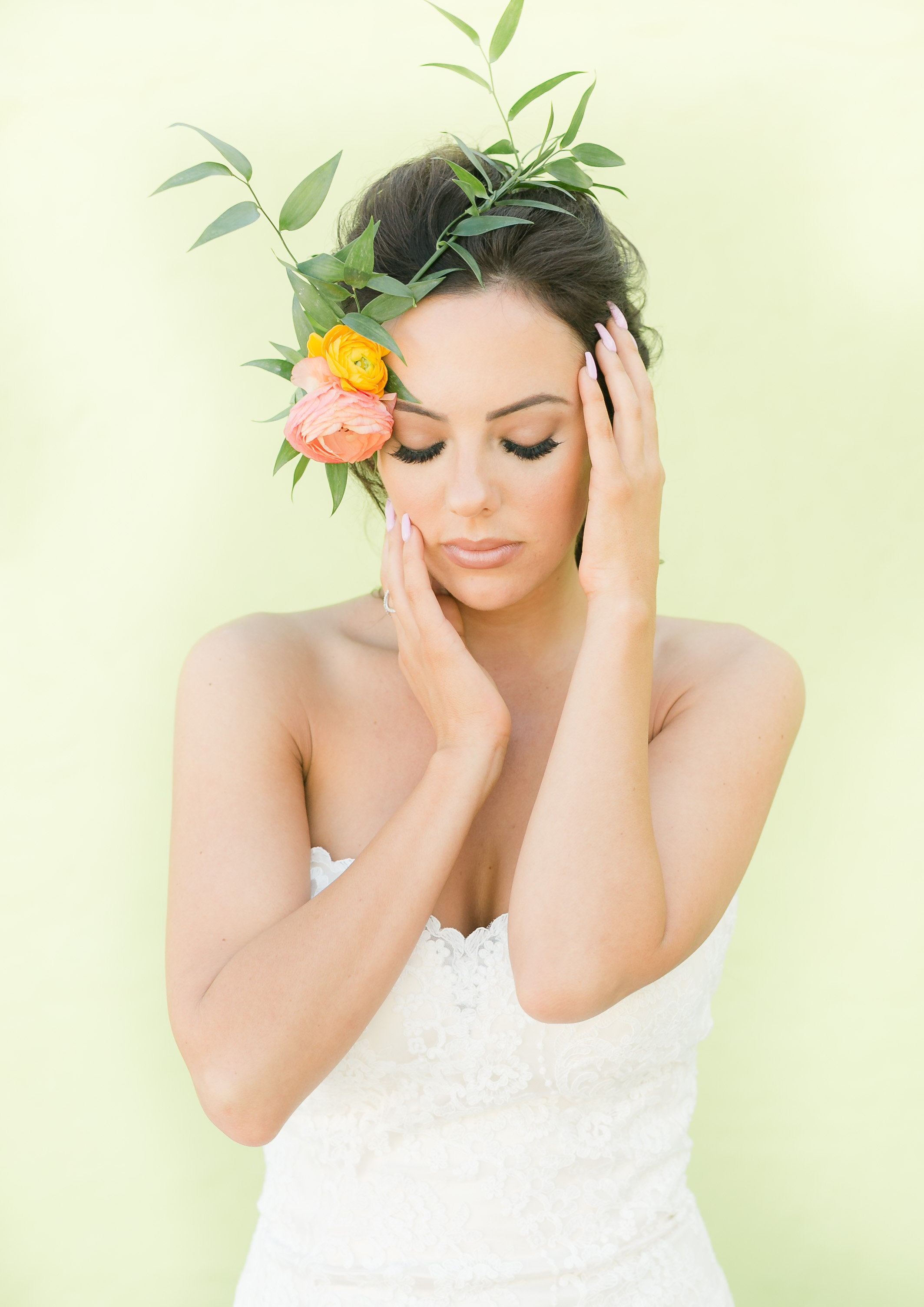 Bridal Flower Crowns - Industrial Wedding Decor Ideas