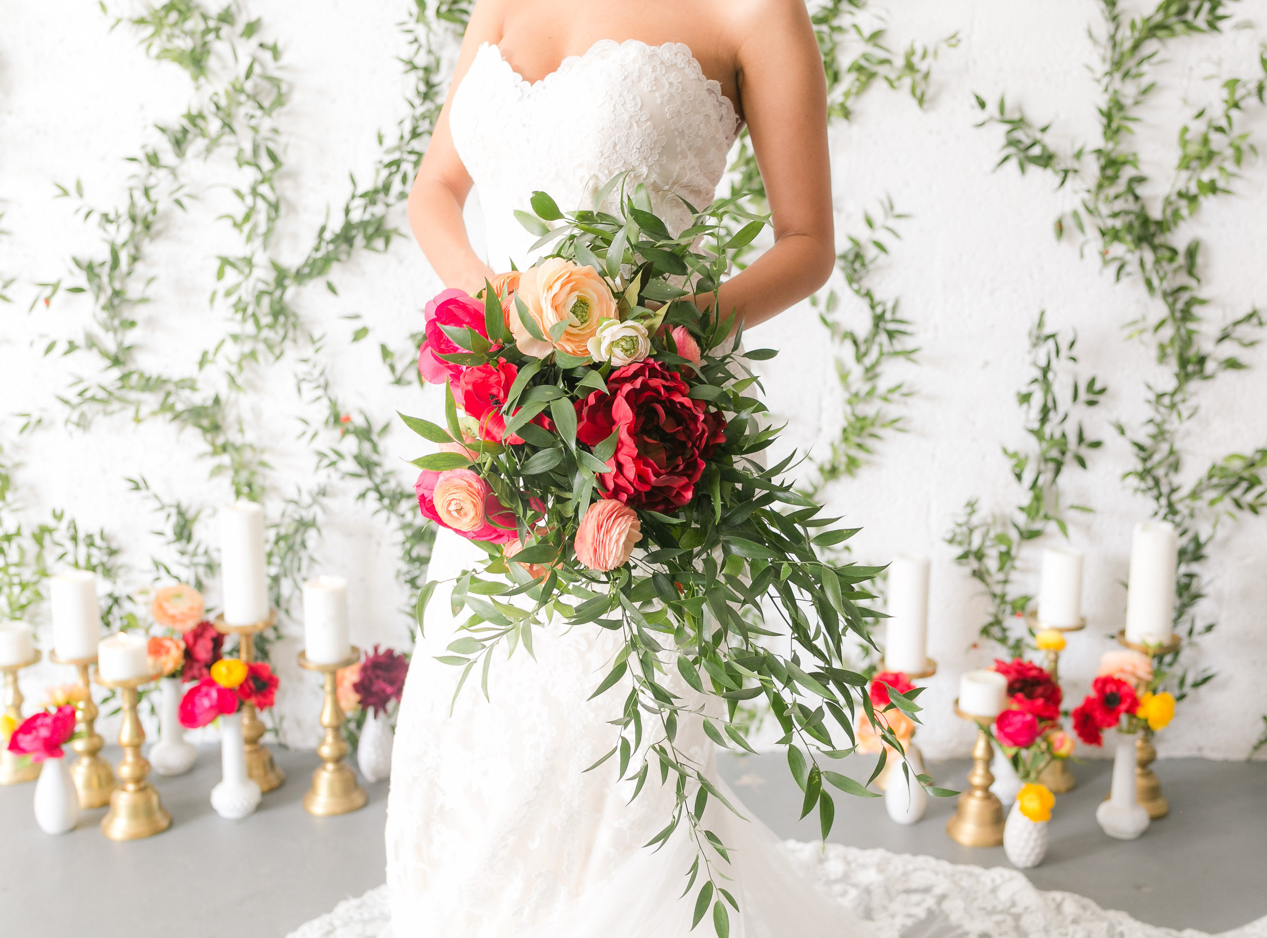 Colorful Wedding Bouquet - Industrial Wedding Decor Ideas