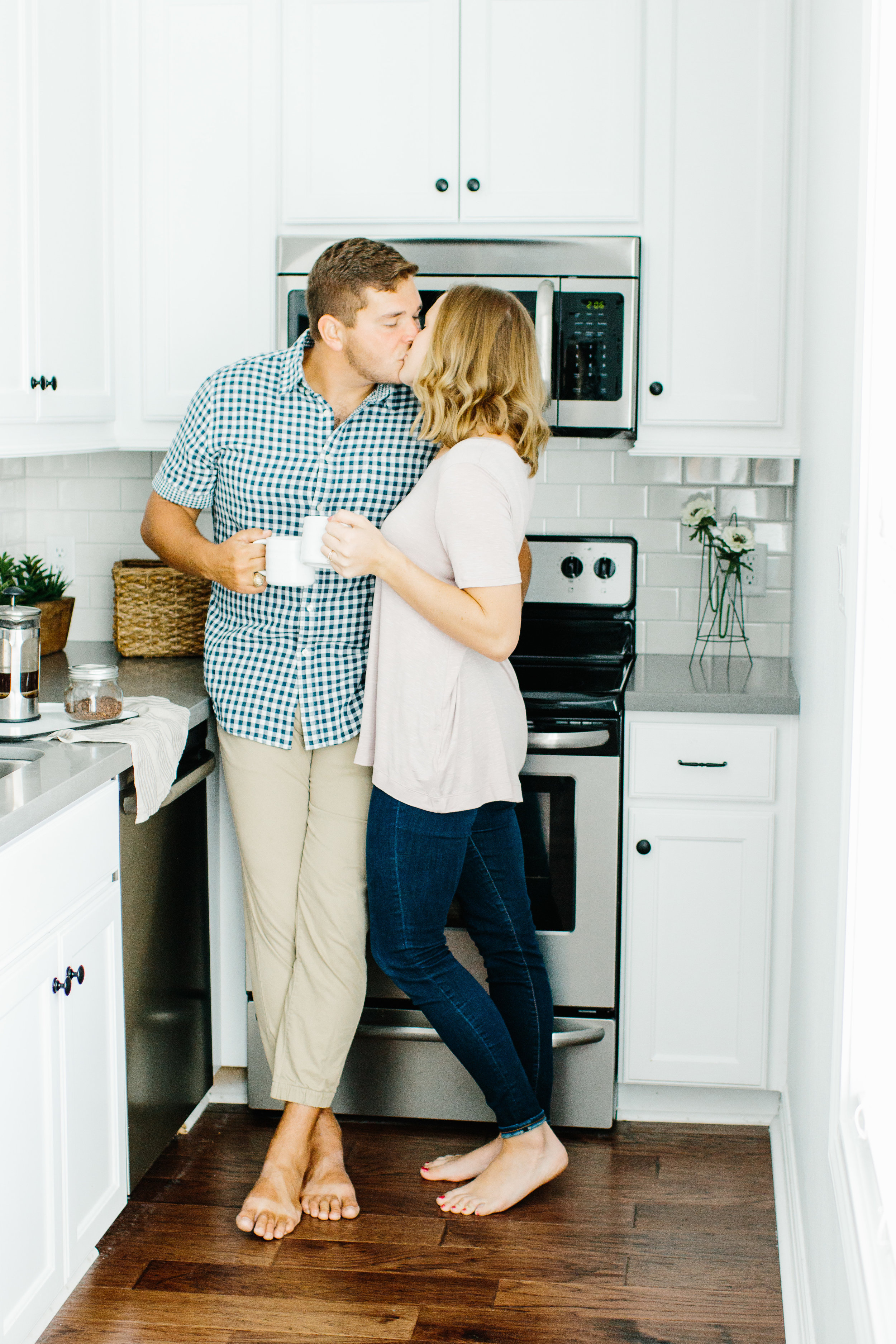 At Home Engagement Photos