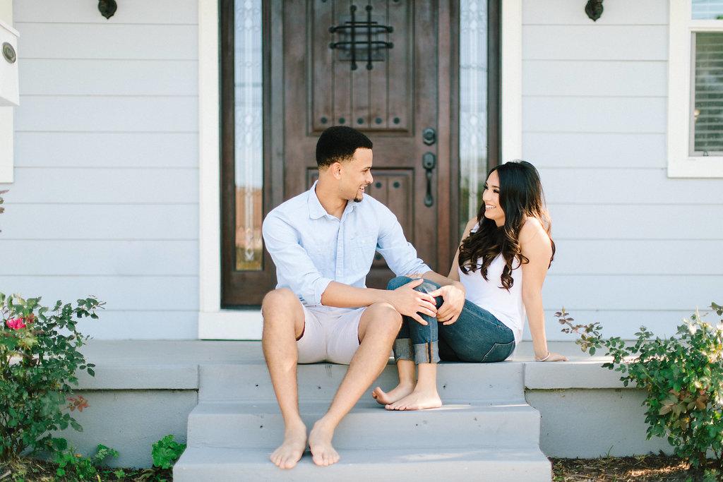 At Home Engagement Photos -- Houston Wedding Photographer