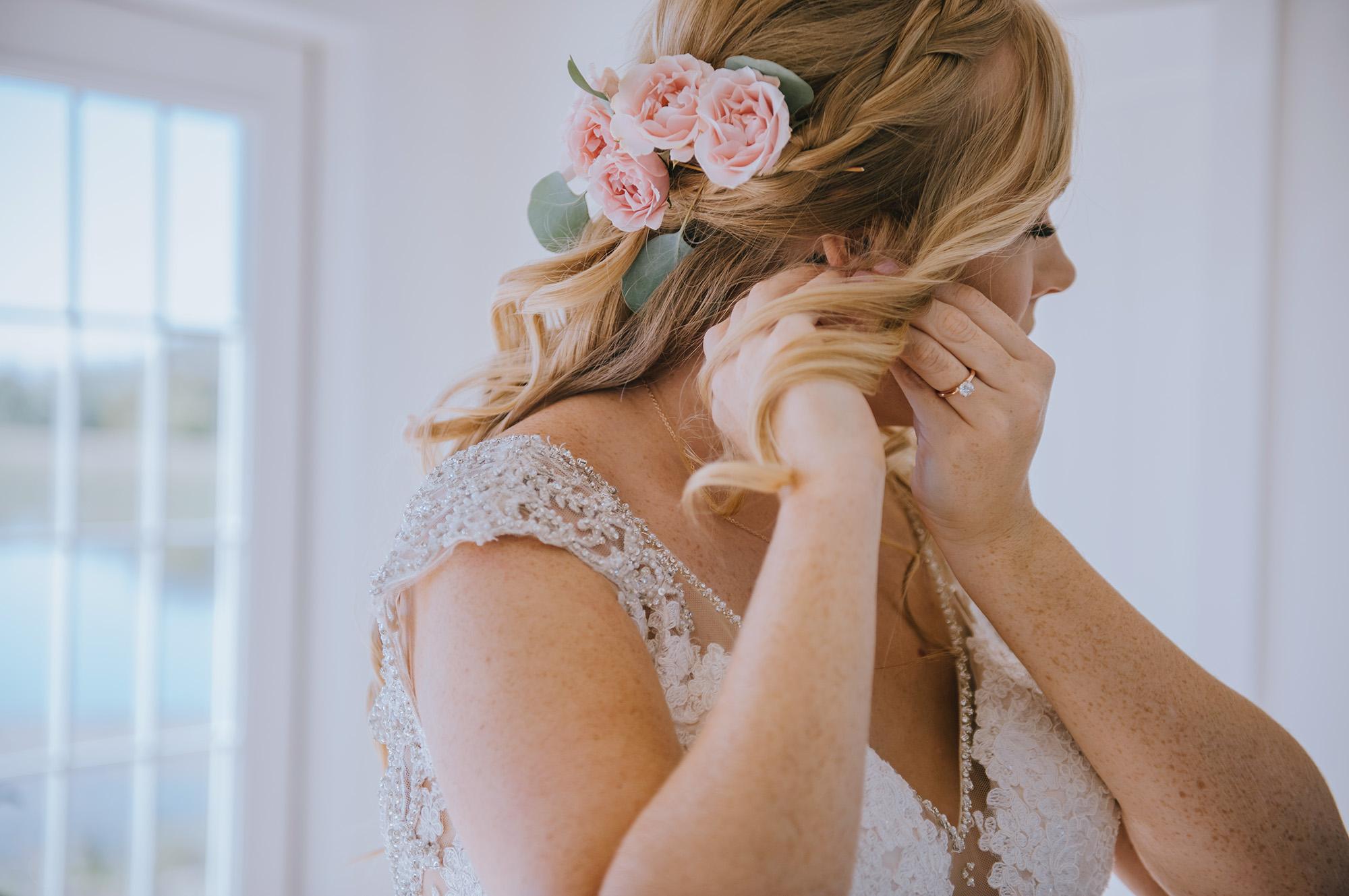 Gorgeous Bridal Hairstyles - The Grand Ivory Wedding - Leonard, Texas Wedding Venue