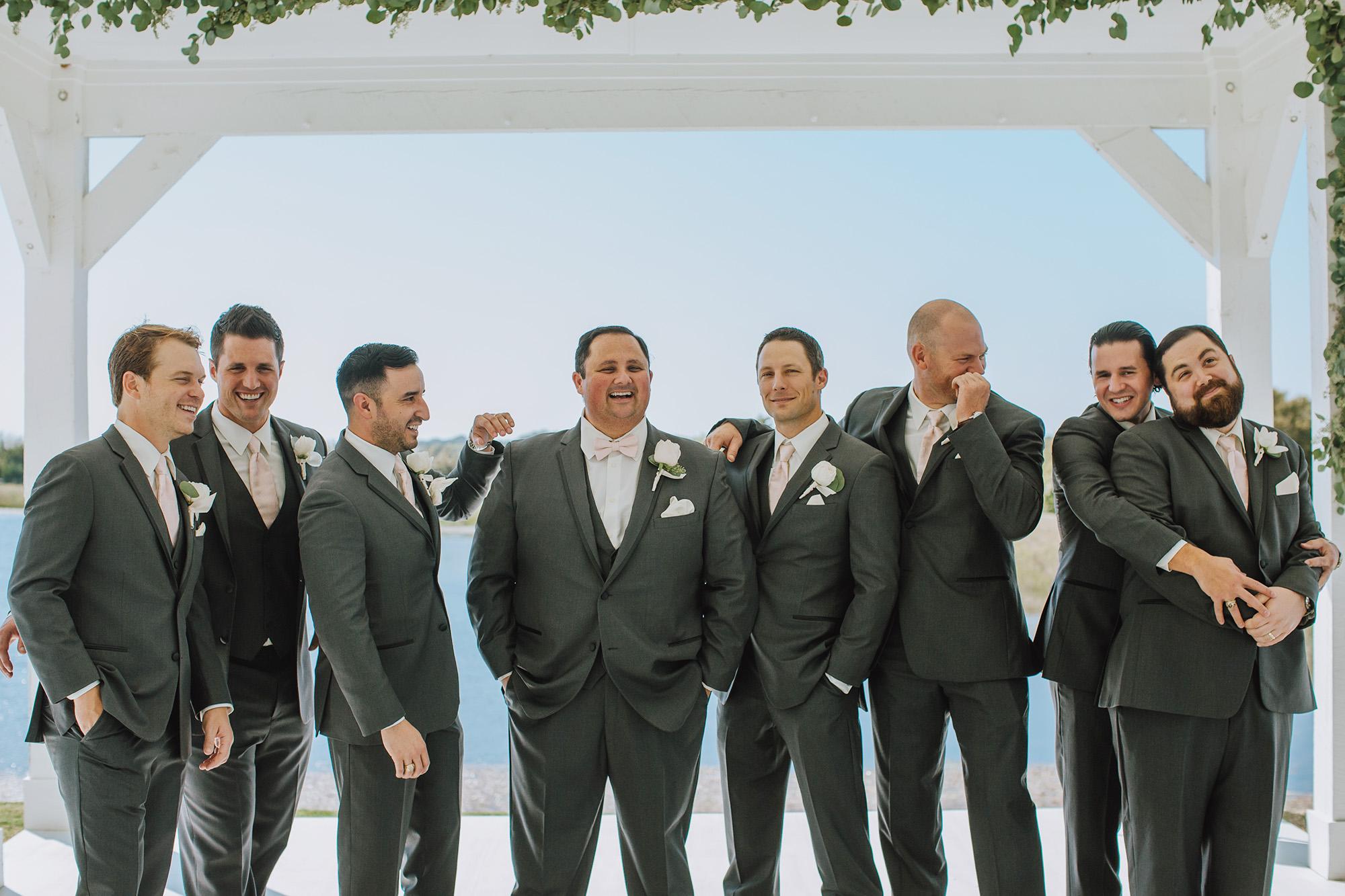 Groomsman Attire - The Grand Ivory Wedding - Leonard, Texas Wedding Venue