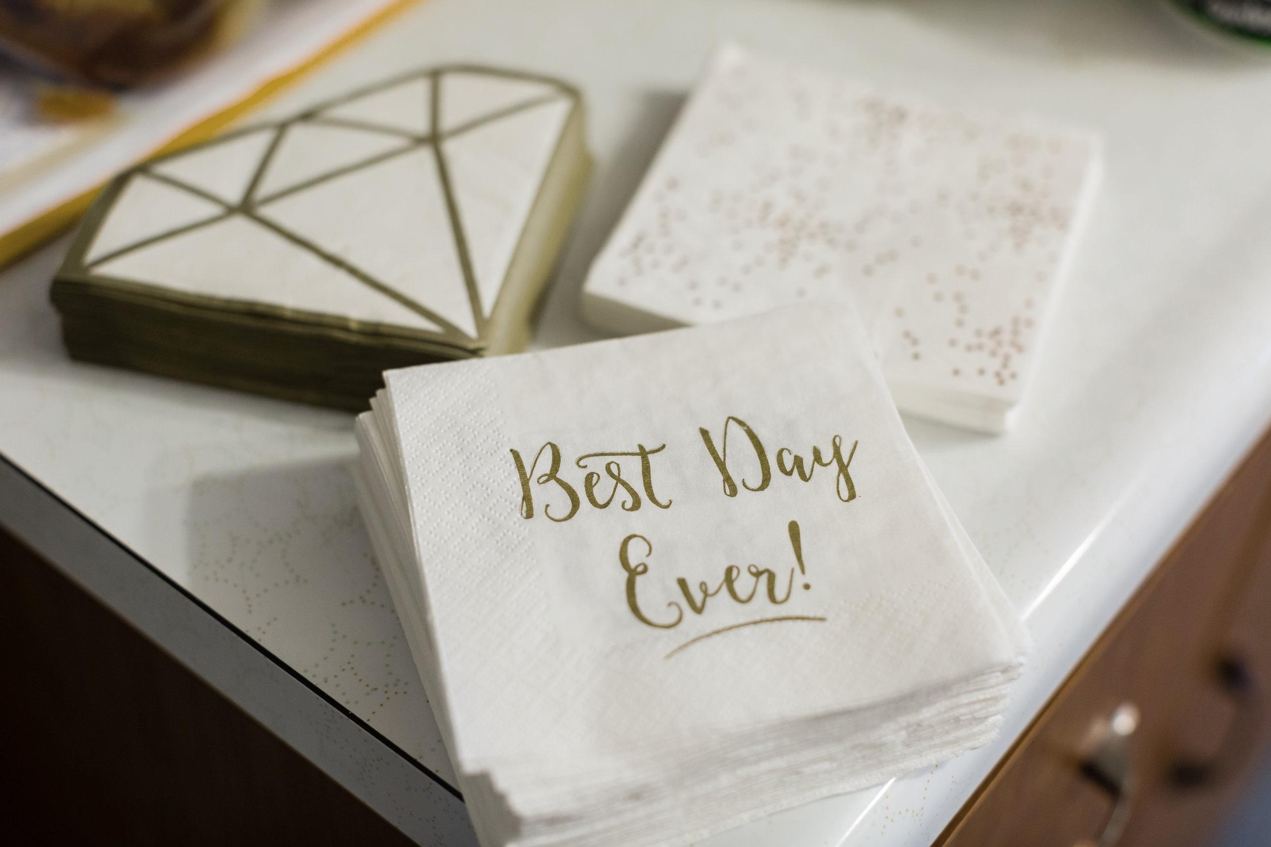 Custom wedding napkins - Pittsburgh Wedding Venue - Duquesne University Wedding