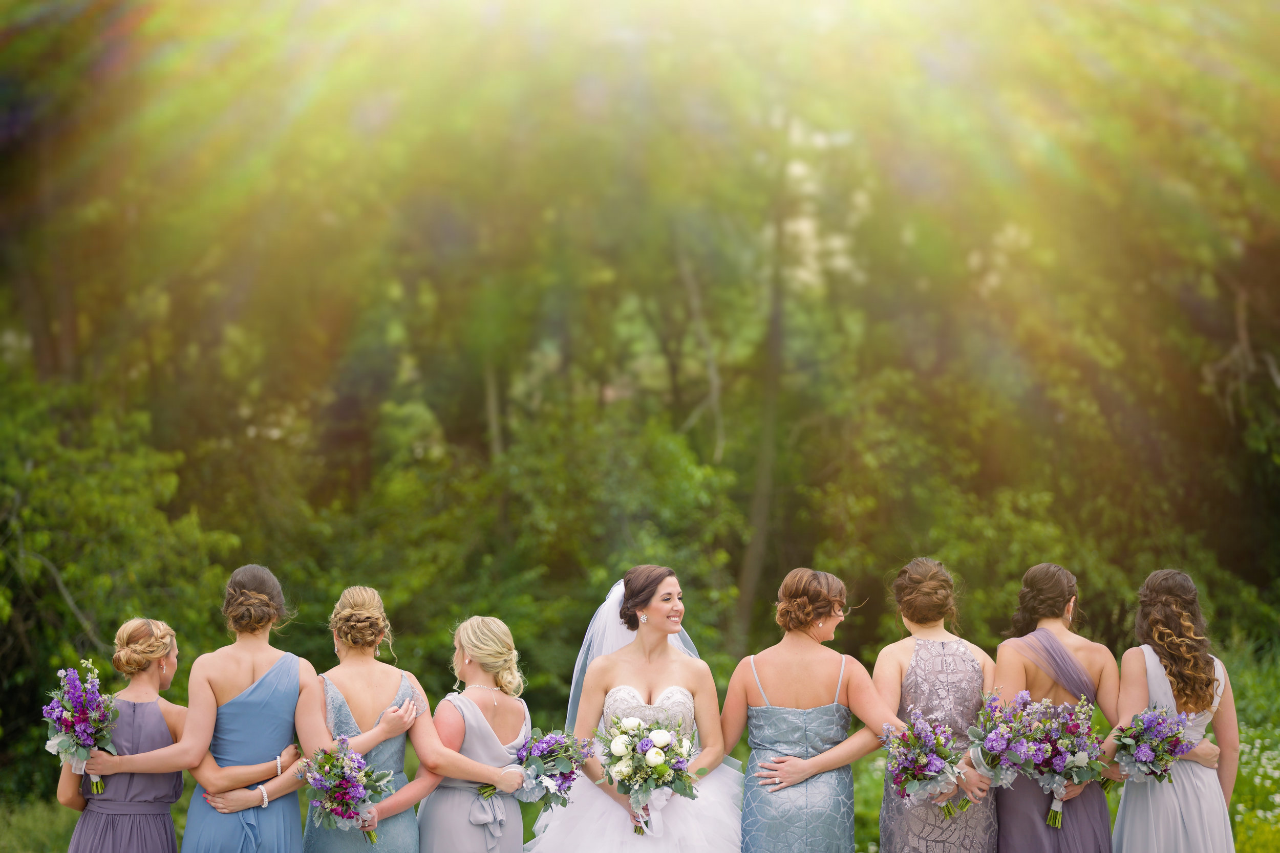 Blue Bridesmaid Dresses - Pittsburgh Wedding Venue - Duquesne University Wedding