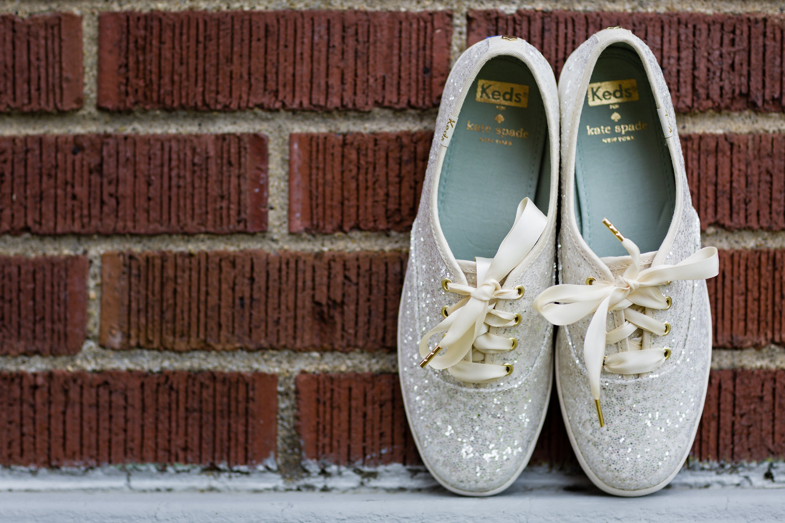 Sparkly White Bridal Tennis Shoes - Pittsburgh Wedding Venue - Duquesne University Wedding