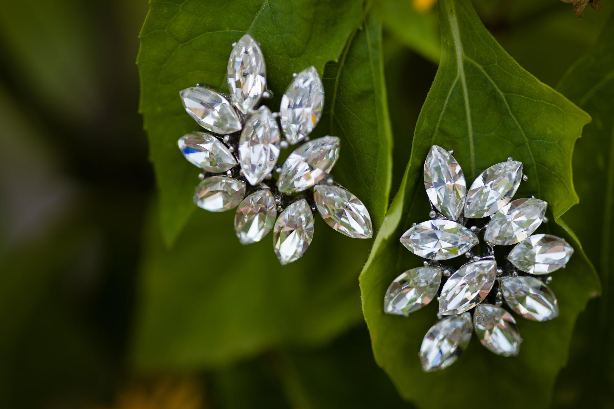 Bridal Earrings - Pittsburgh Wedding Venue - Duquesne University Wedding