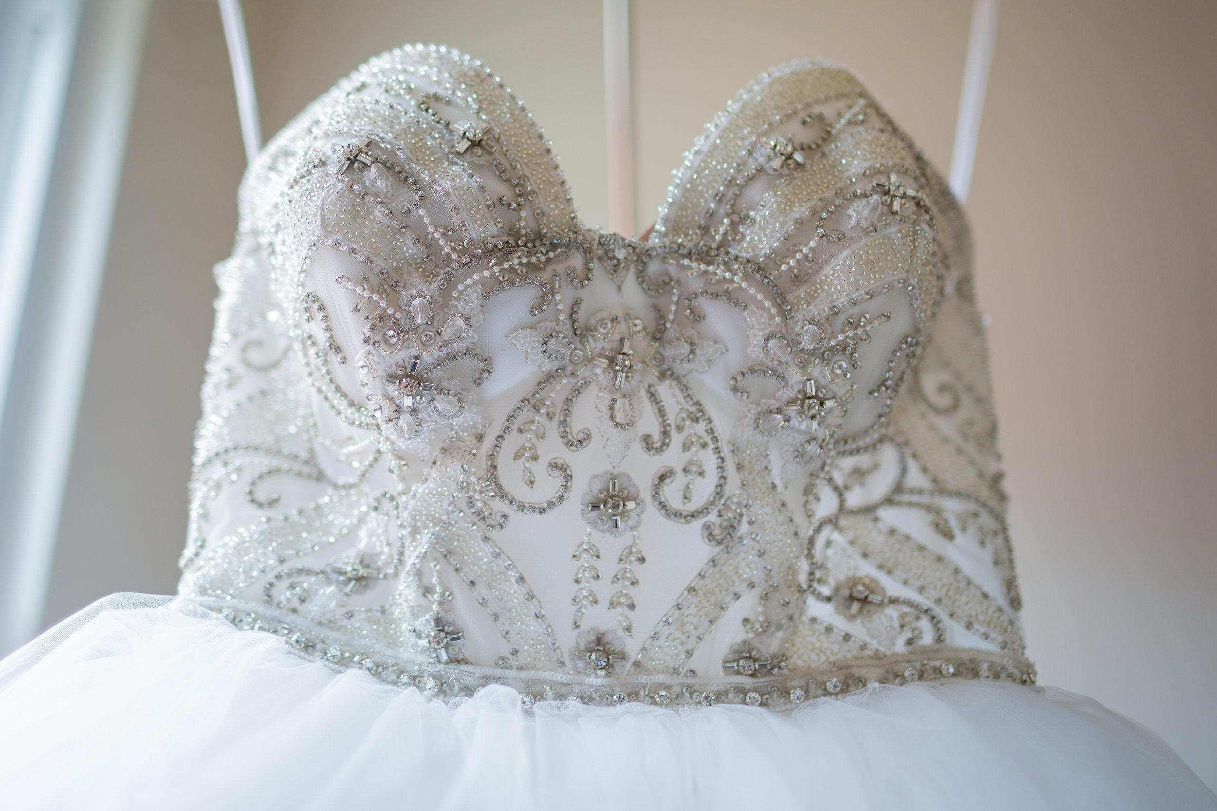 Beaded Wedding Dress - Pittsburgh Wedding Venue - Duquesne University Wedding