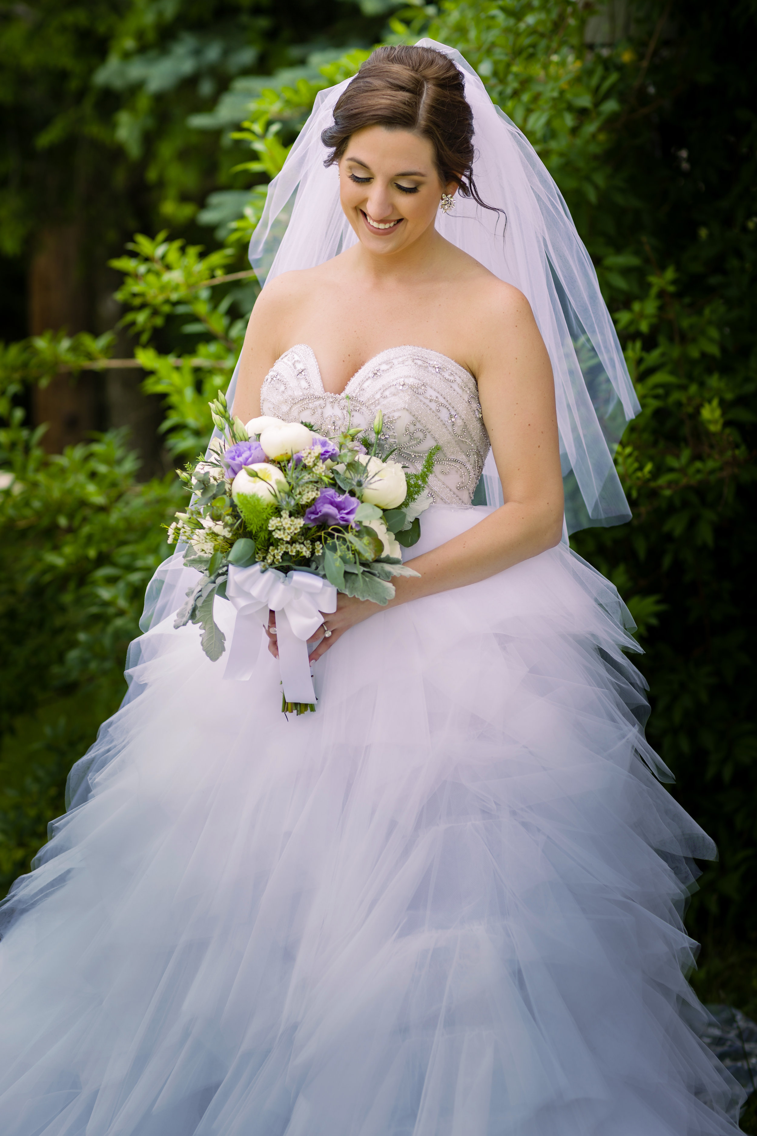 Purple + Pink Wedding Bouquet - Pittsburgh Wedding Venue - Duquesne University Wedding