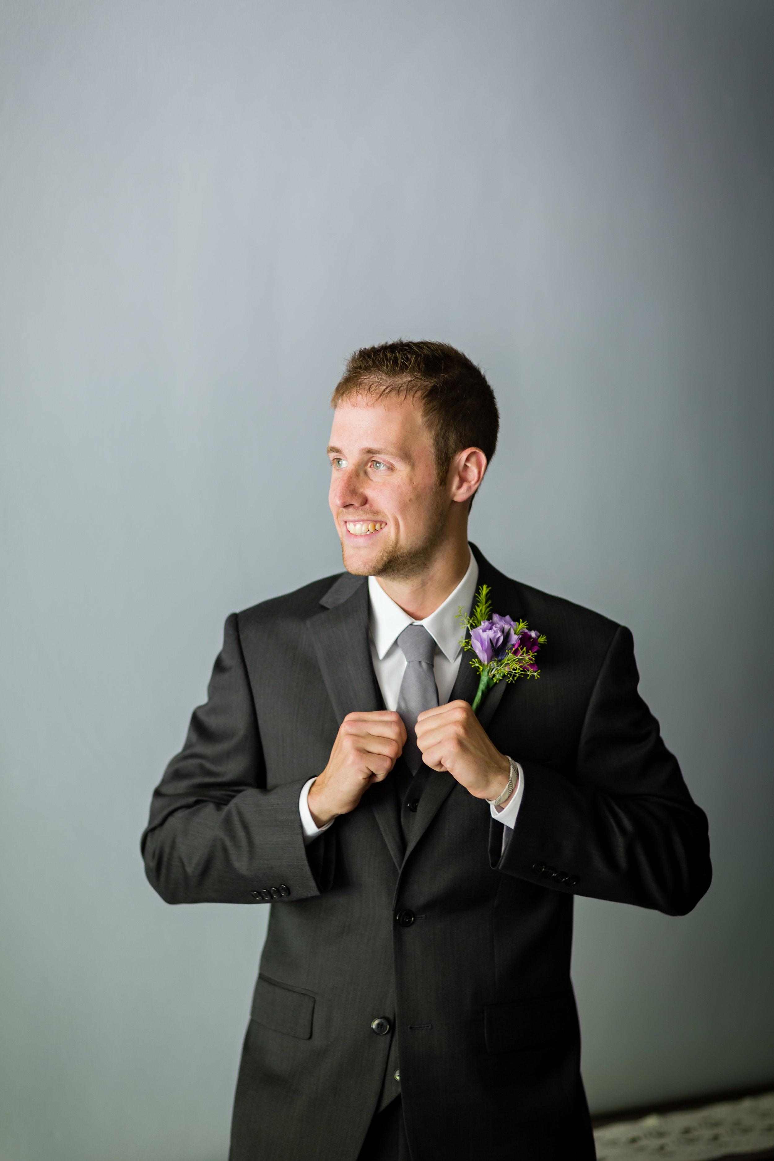 Charcoal Grey Groom Tie - Pittsburgh Wedding Venue - Duquesne University Wedding