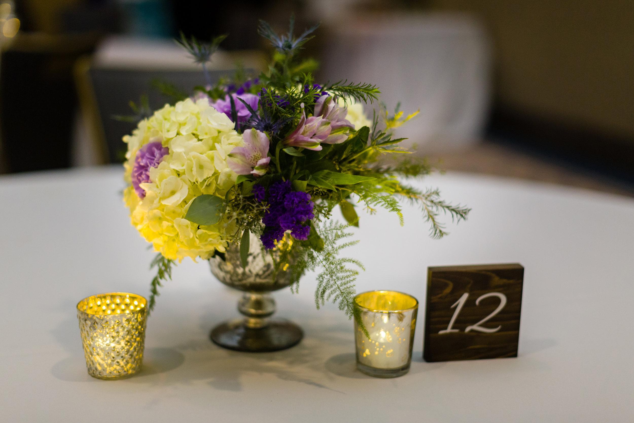 Simple Wedding Centerpieces - Pittsburgh Wedding Venue - Duquesne University Wedding