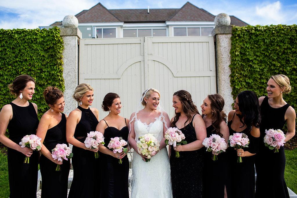 Black Bridesmaid Dresses - Rhode Island Wedding Venue - Belle Mer Wedding