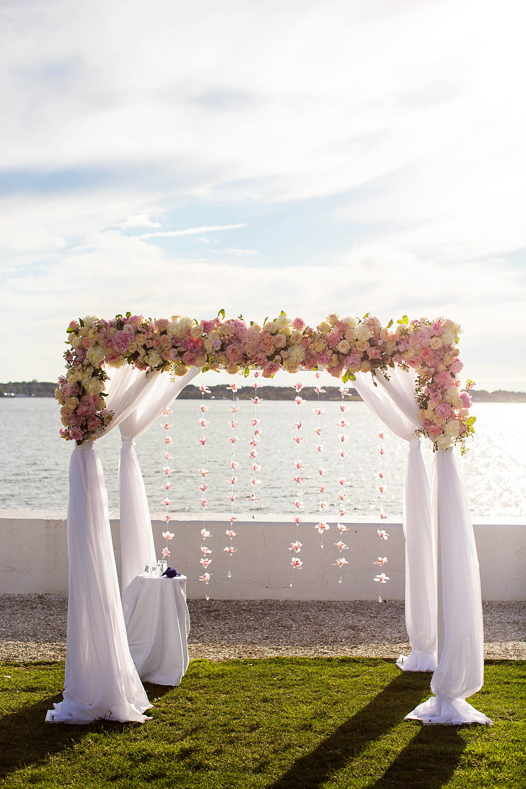 Gorgeous Wedding Chuppah - Rhode Island Wedding Venue - Belle Mer Wedding