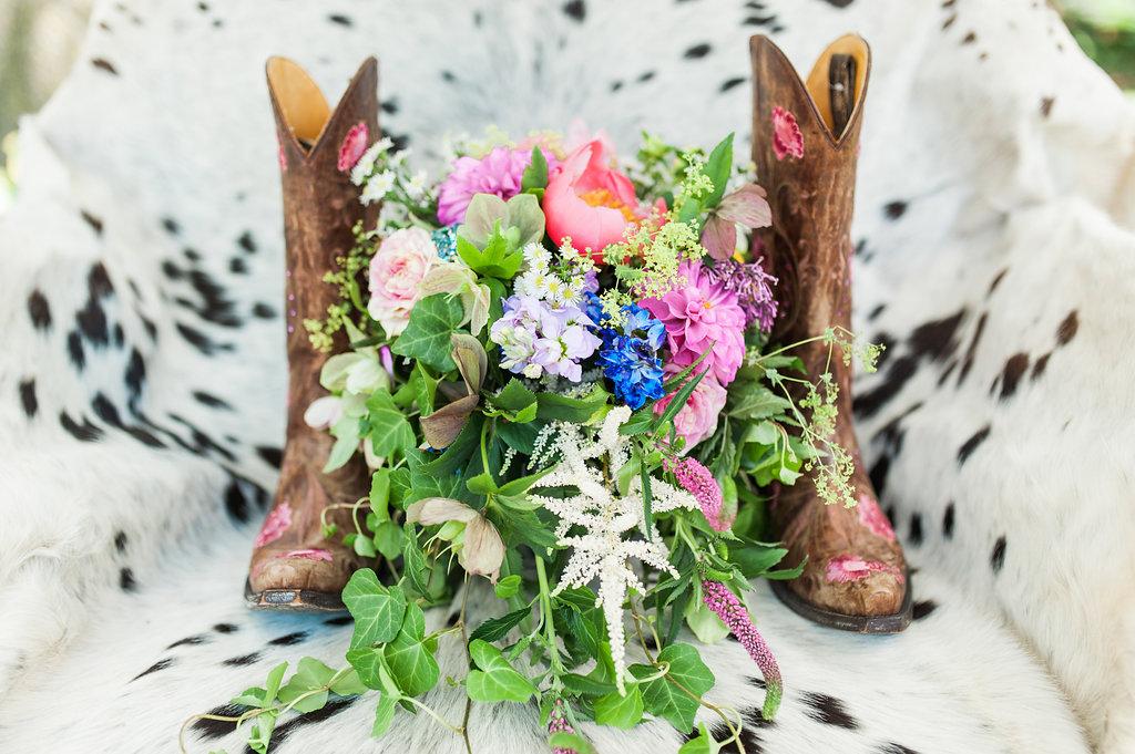 Wildflower Wedding Bouquet - Iowa Farm Wedding - Private Estate Weddings