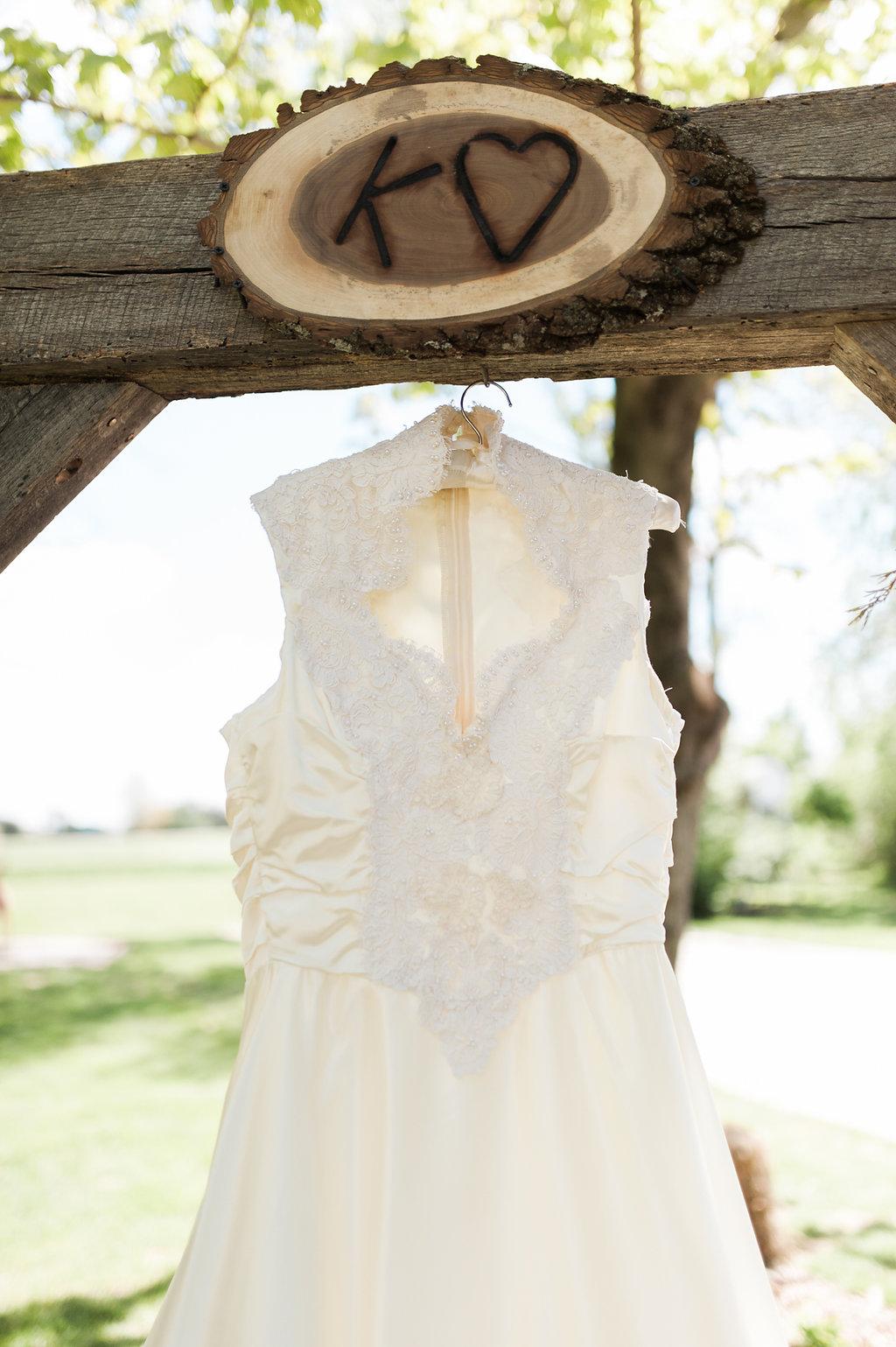 Rustic Wedding Dress - Iowa Farm Wedding - Private Estate Weddings