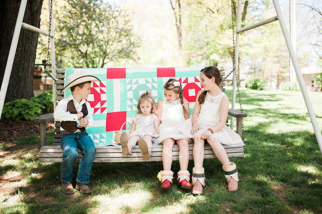 Flower Girl Dresses - Iowa Farm Wedding - Private Estate Weddings