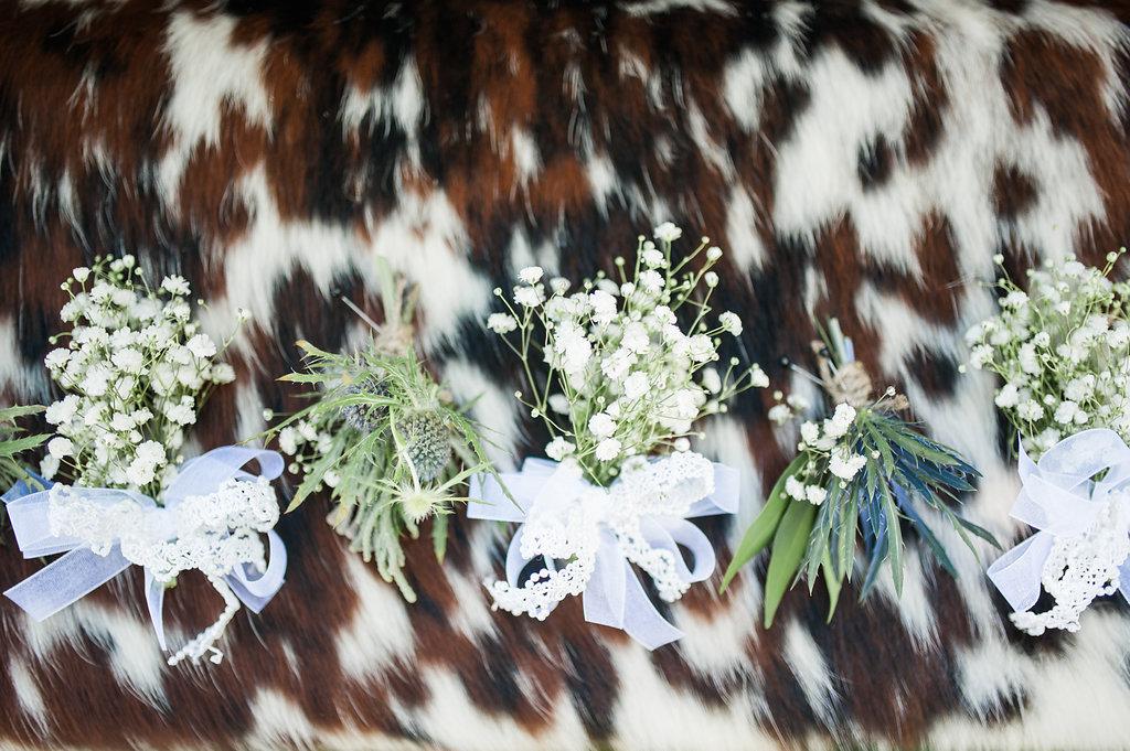 Farm Wedding Boutonnieres - Iowa Farm Wedding - Private Estate Weddings