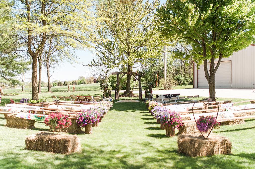 Gorgeous Farm Wedding Ceremony - Iowa Farm Wedding - Private Estate Weddings