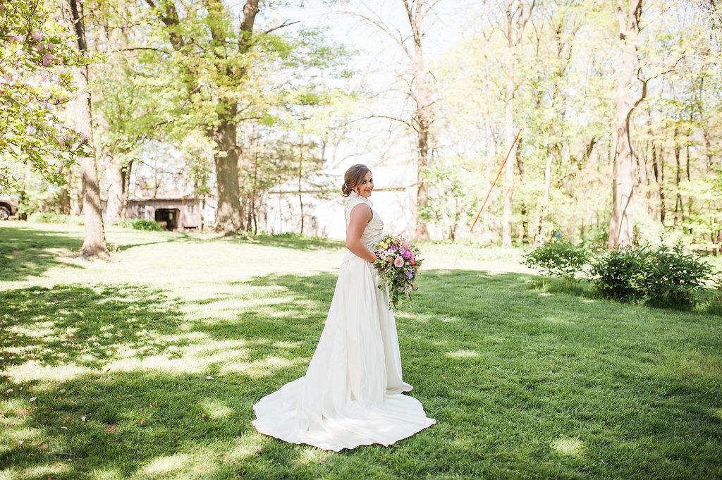 Lace Farm Wedding Dress - Iowa Farm Wedding - Private Estate Weddings