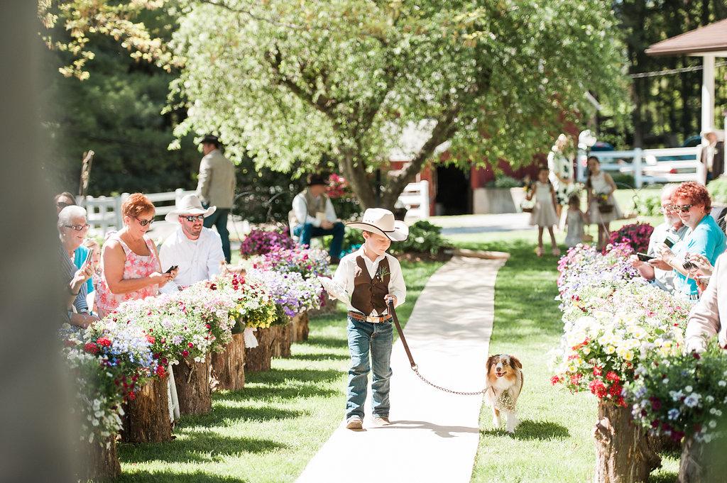 Rustic Ring Bearer Pillow - Iowa Farm Wedding - Private Estate Weddings