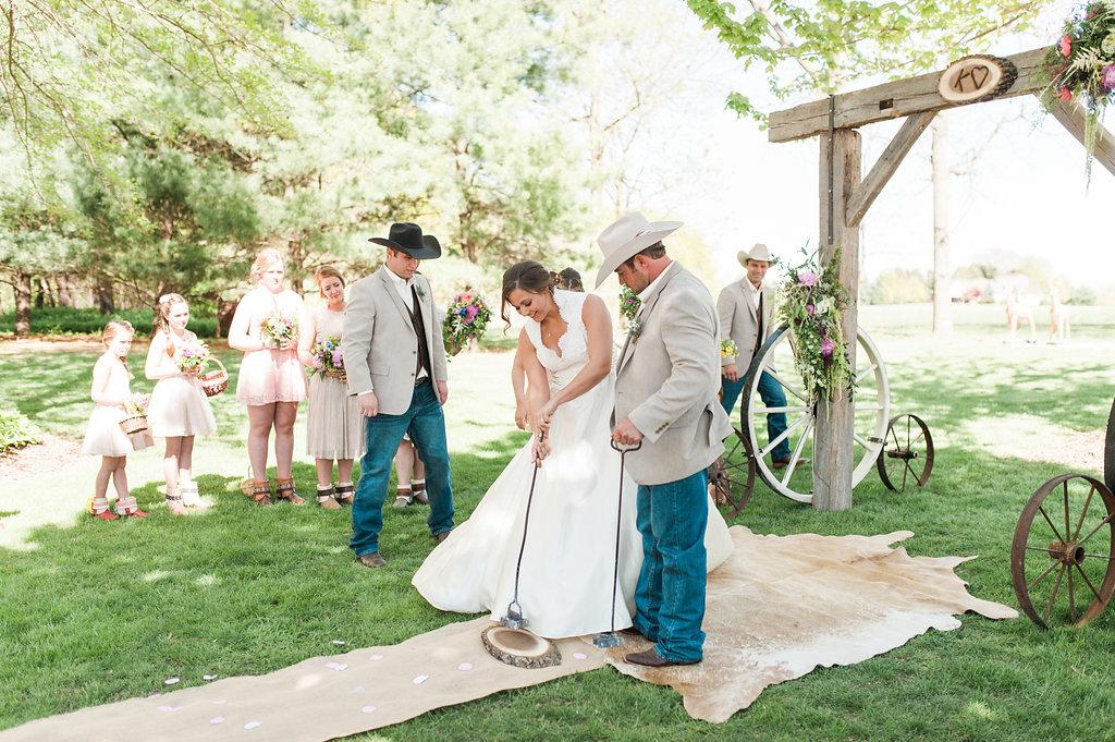 Farm Wedding Ceremony - Iowa Farm Wedding - Private Estate Weddings