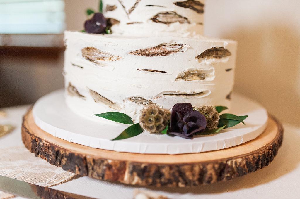 Rustic Wedding Cake - Iowa Farm Wedding - Private Estate Weddings