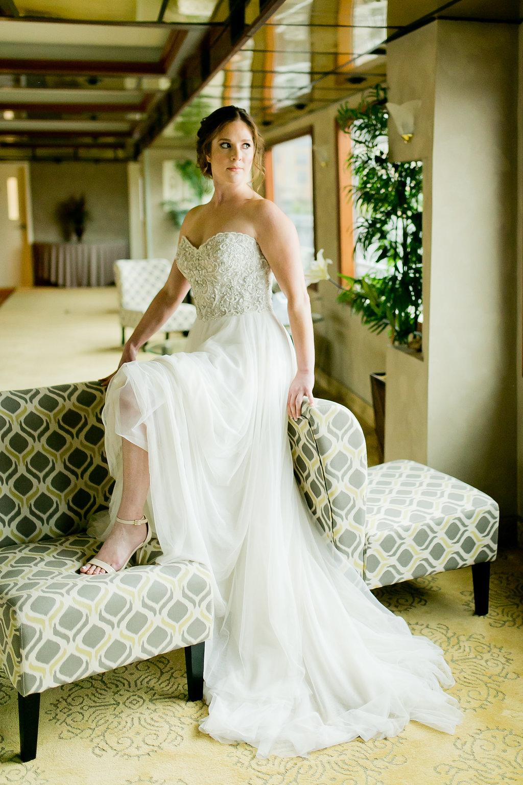Beaded Flowy Wedding Dresses - Yacht Wedding Venues