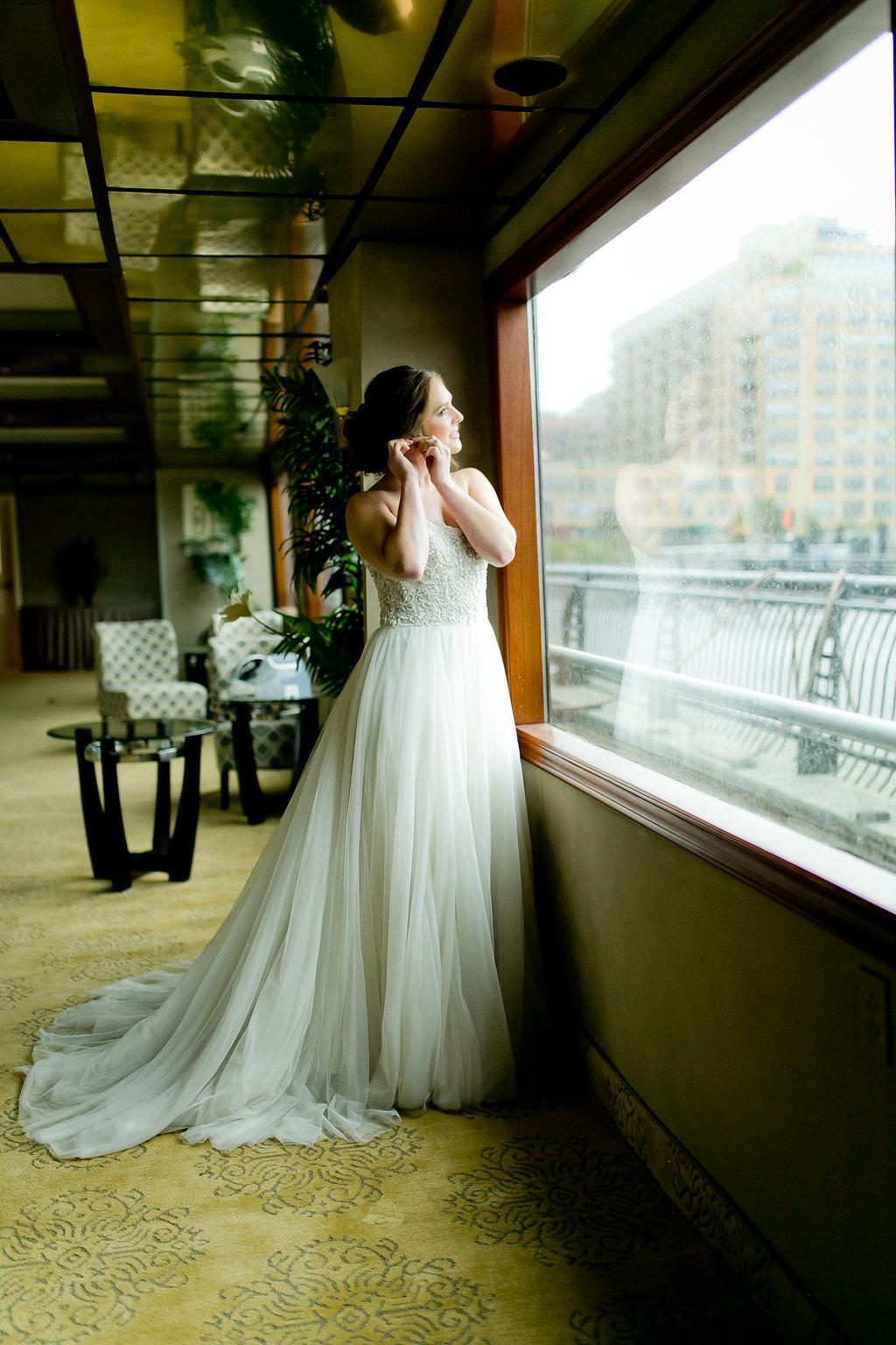 Beaded Flowy Wedding Dress - Yacht Wedding Venues